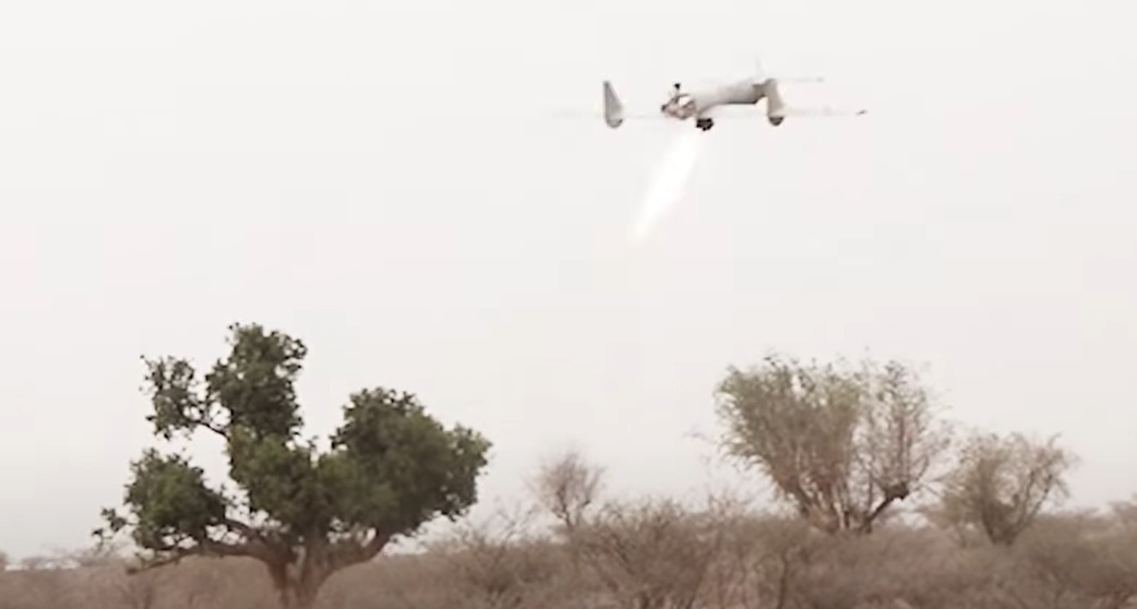 Houthis Released Footage Of Recent Drone Attack On Coalition Camp On Yemeni-Saudi Border