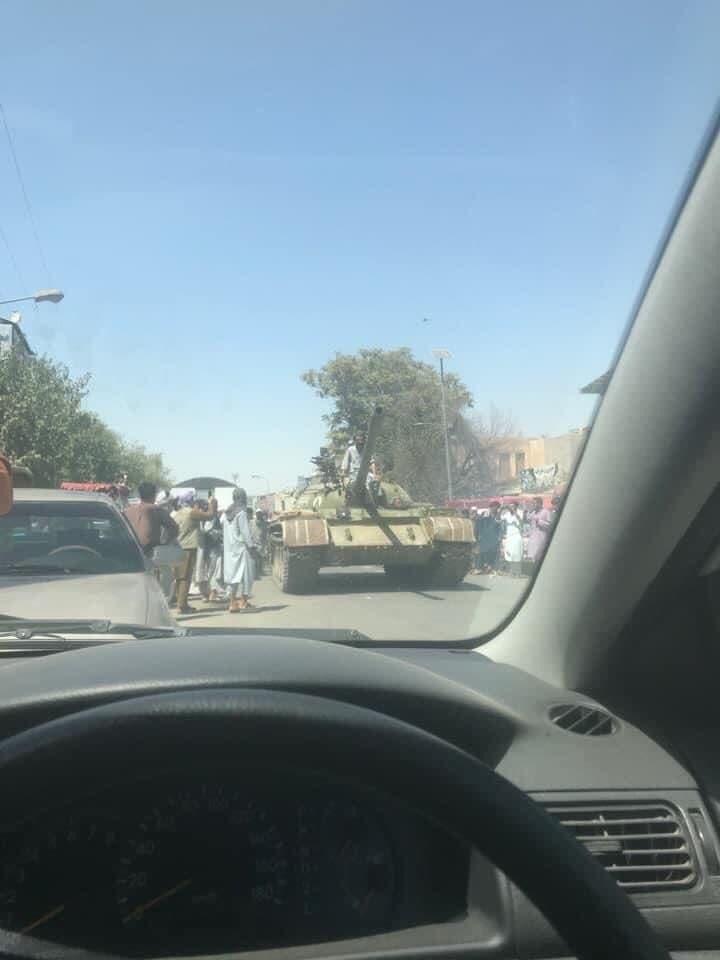 In Video: Taliban Militants Captured T-55 Tank In Knduz