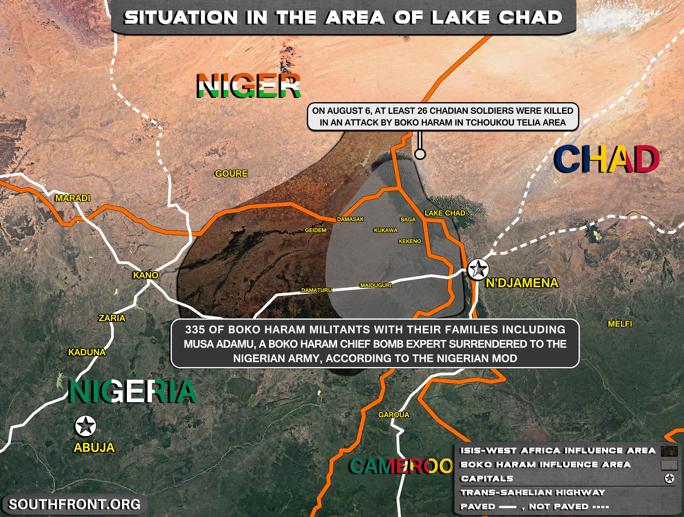 Military Situation In The Area Of Lake Chad On August 11, 2021 (Map Update)
