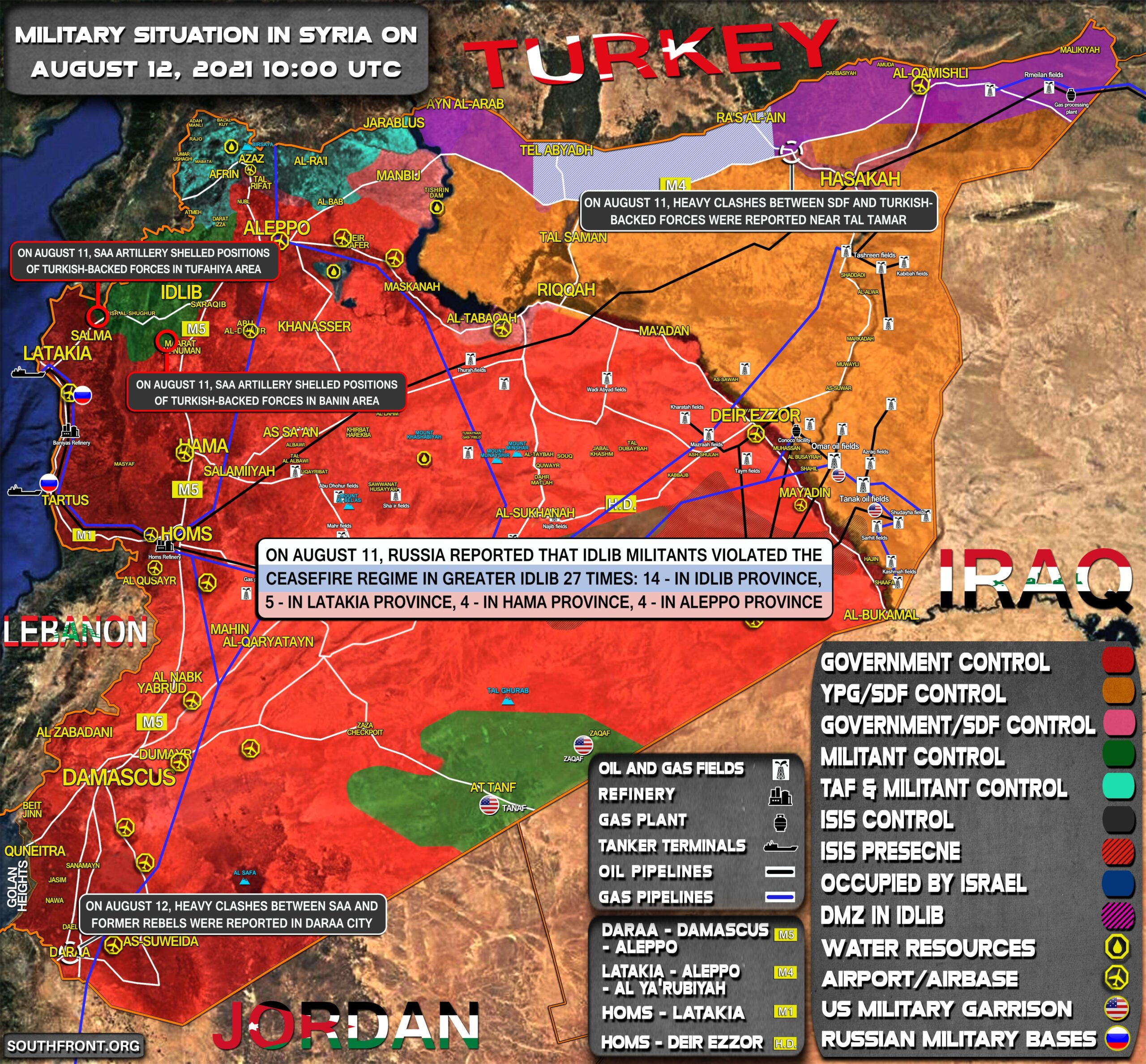 Military Situation In Syria On August 12, 2021 (Map Update)