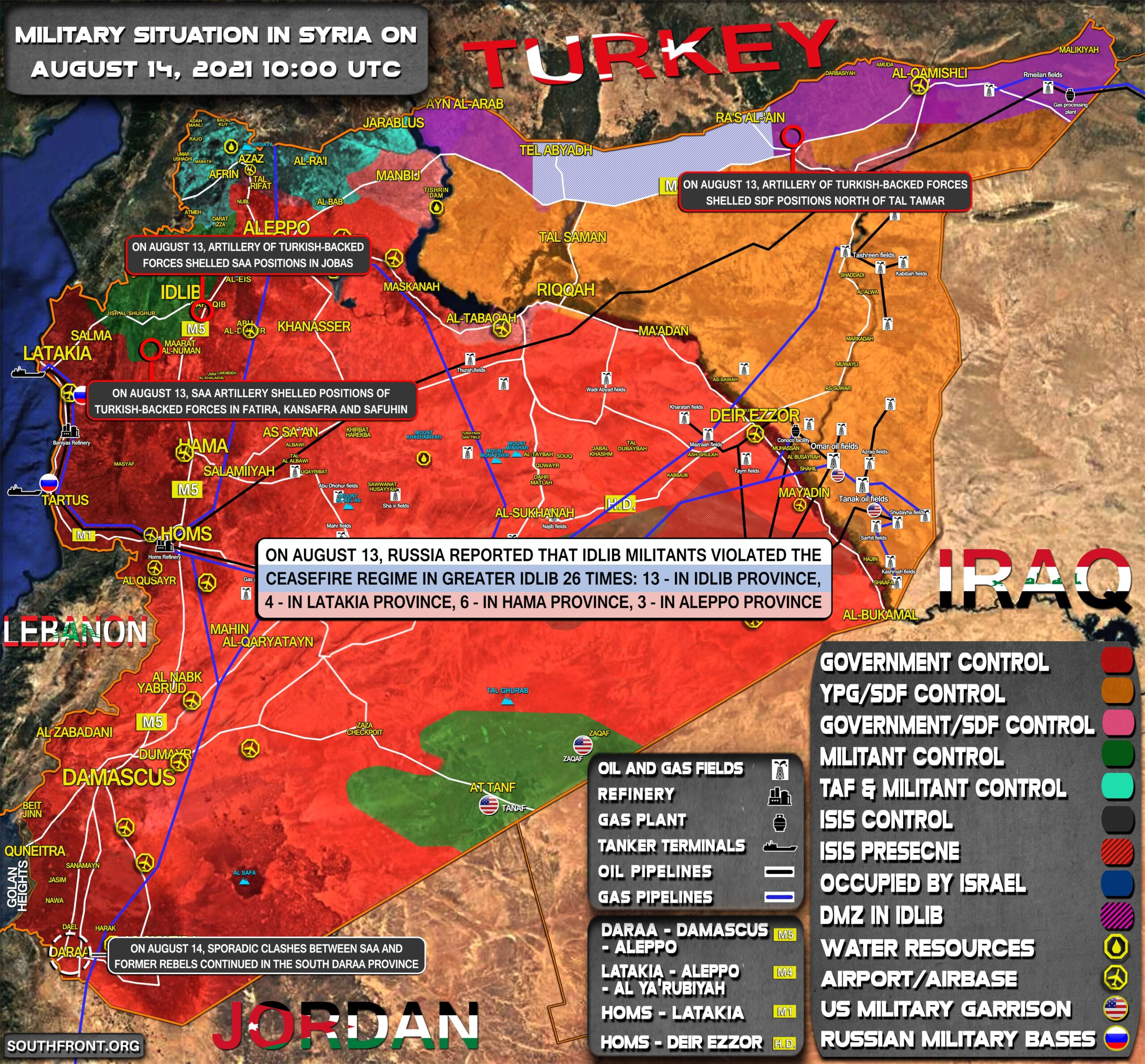 Military Situation In Syria On August 14, 2021 (Map Update)