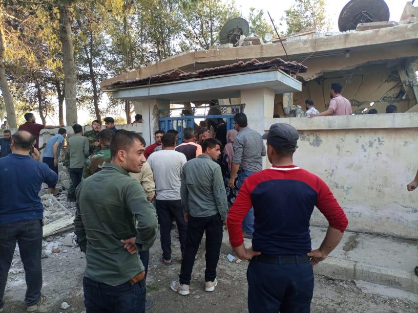Turkish Drone Strike Hit SDF Military Coordination Center In Northeastern Syria (Photos)