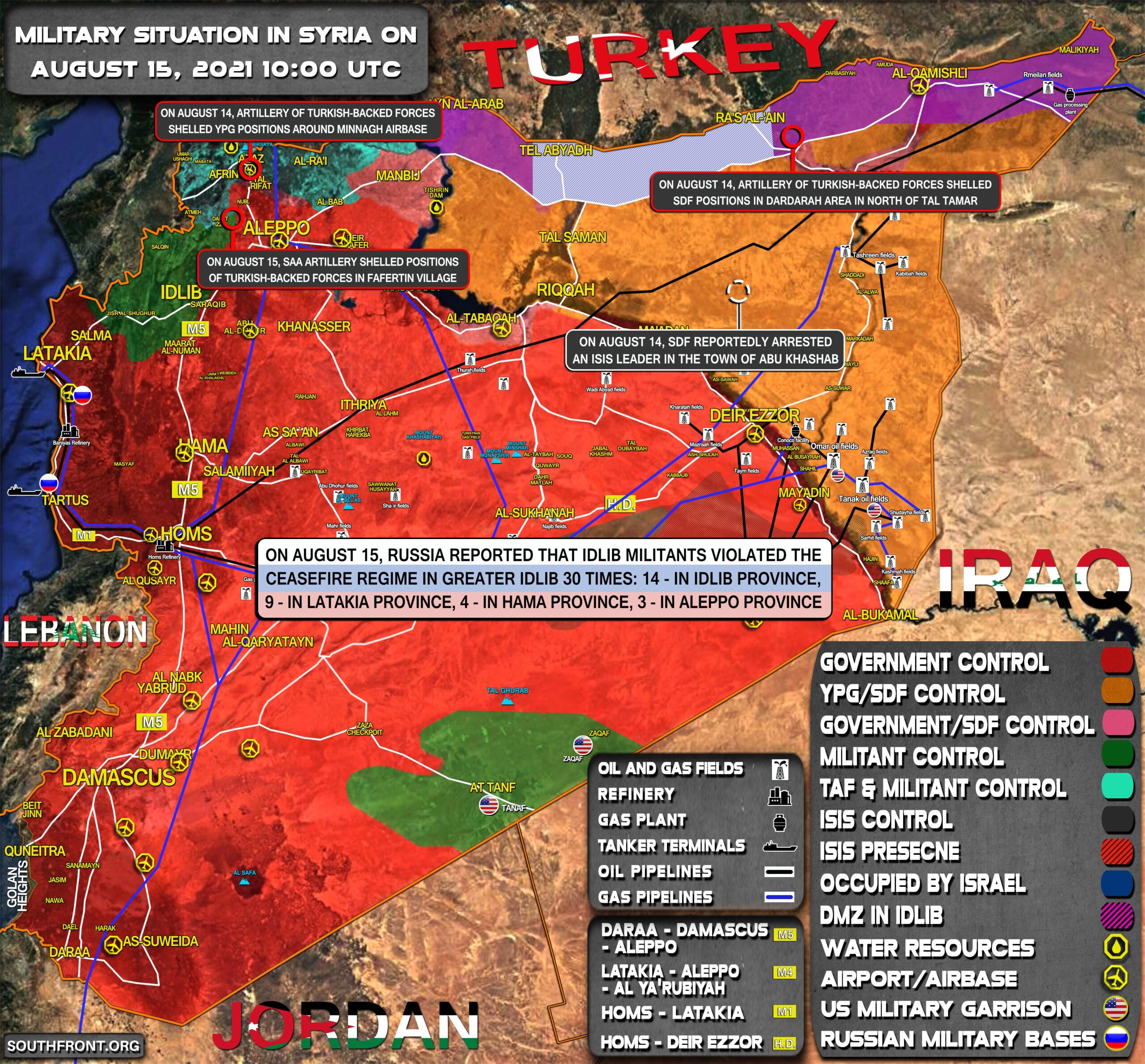 Military Situation In Syria On August 15, 2021 (Map Update)