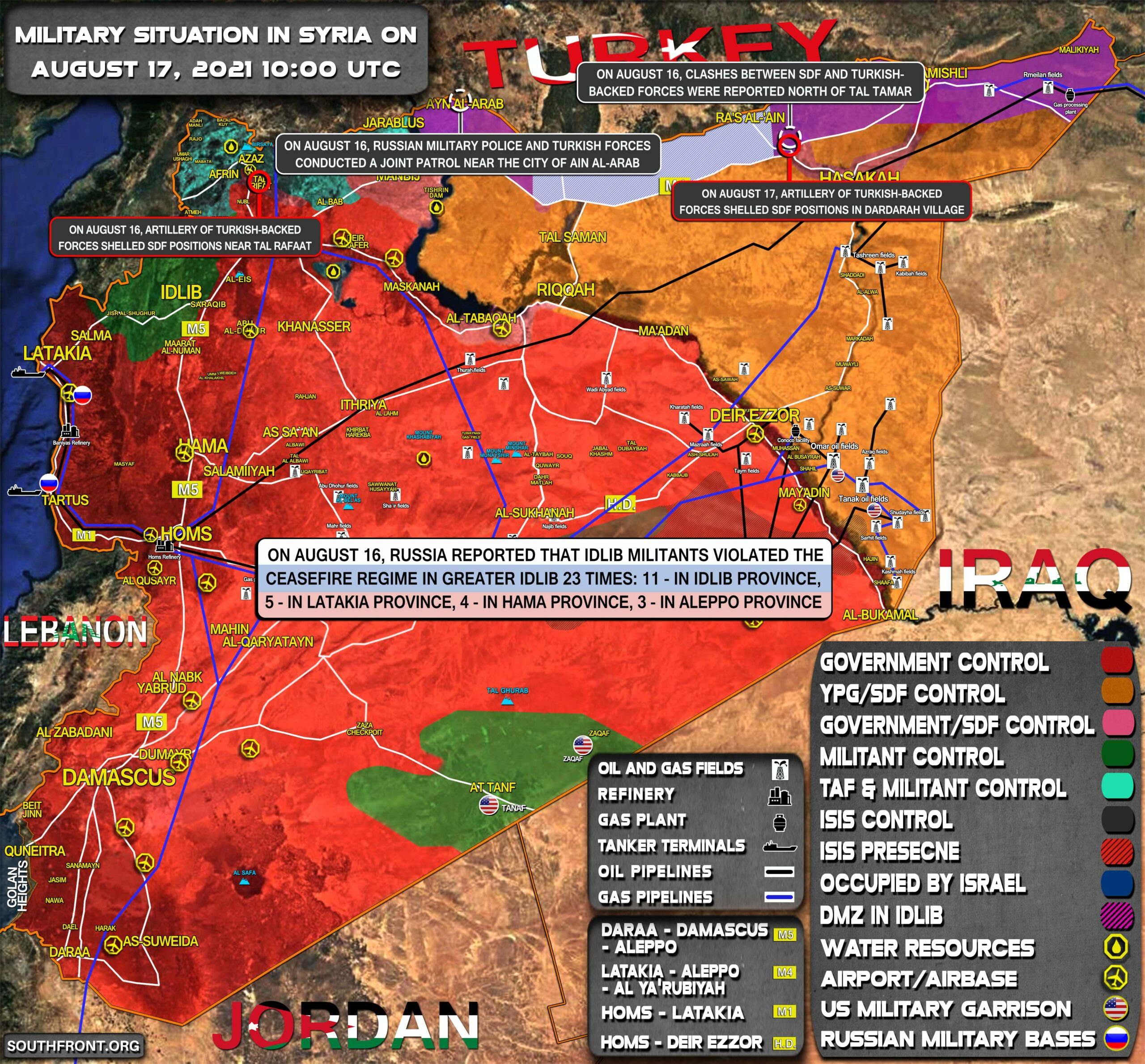 Military Situation In Syria On August 17, 2021 (Map Update)