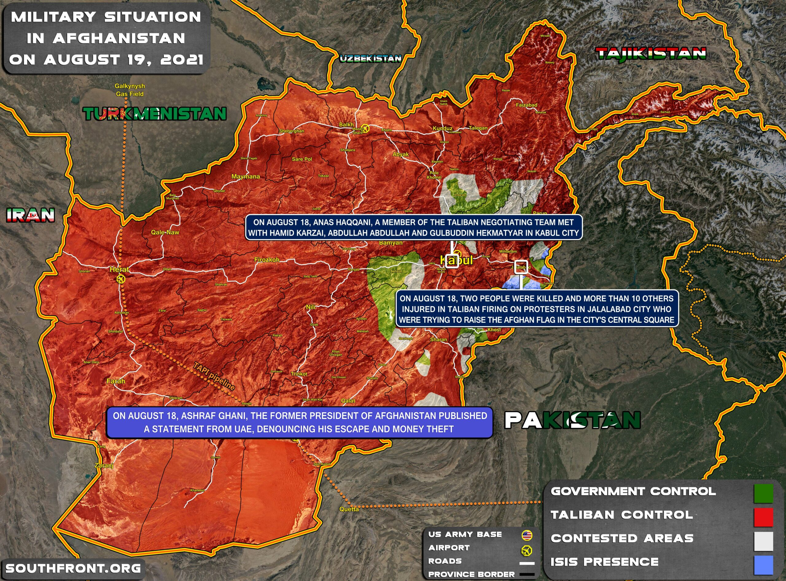 Military Situation In Afghanistan On August 19, 2021 (Map Update)