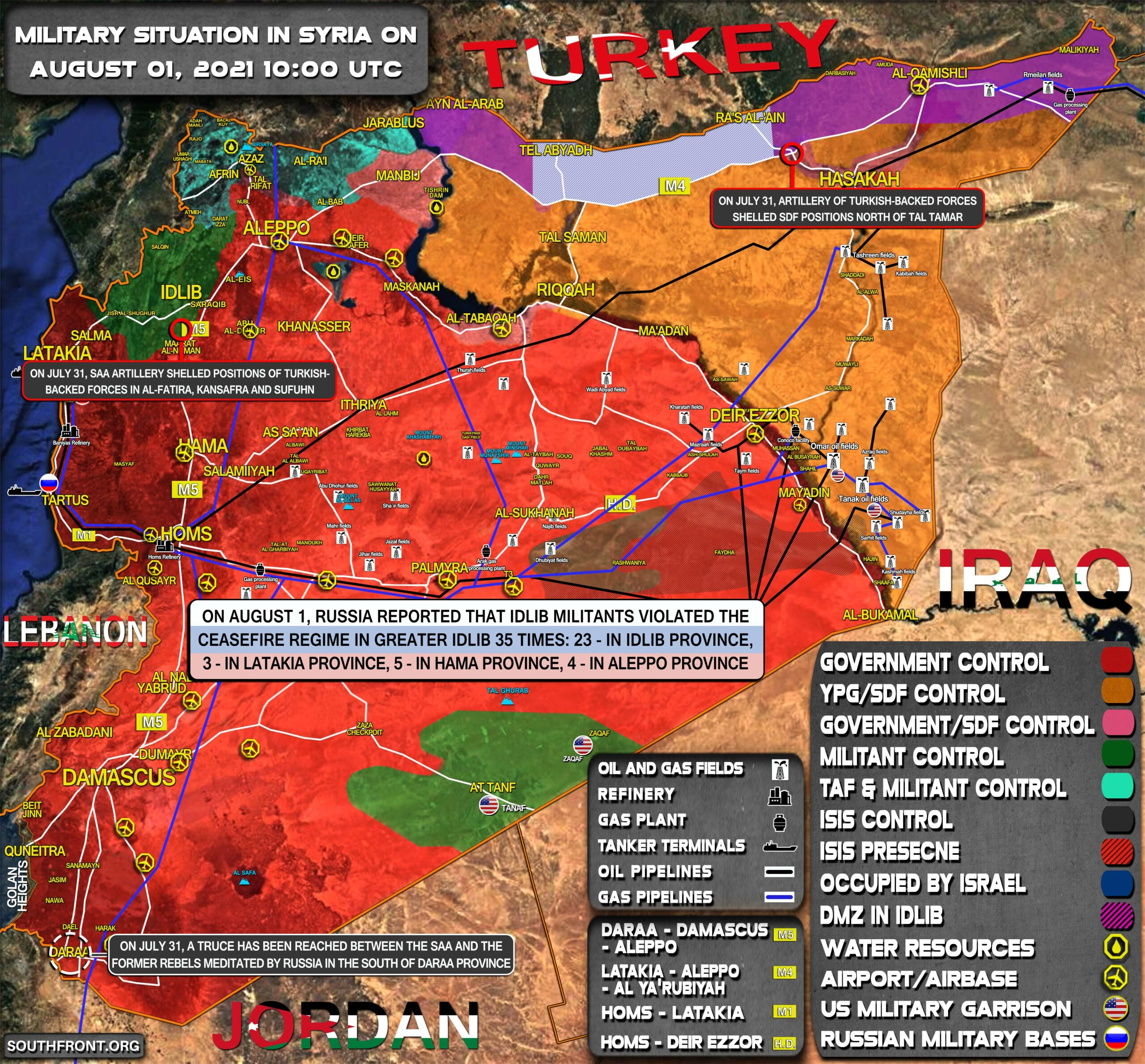 Military Situation In Syria On August 1, 2021 (Map Update)