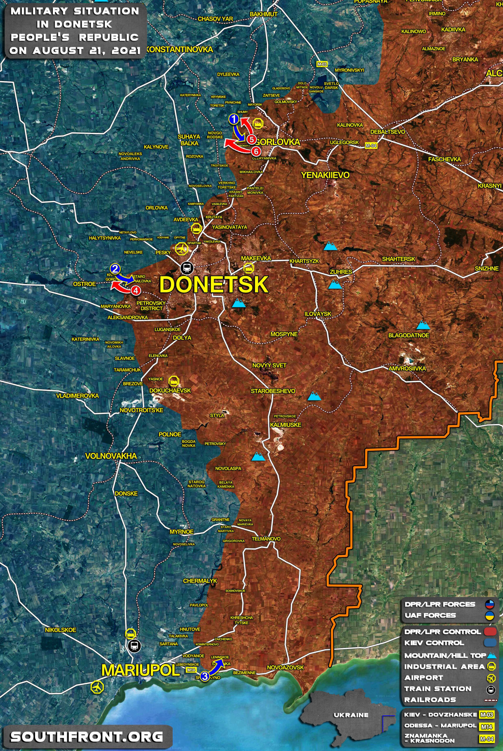Military Situation In Donetsk People's Republic On August 21, 2021 (Map Update)