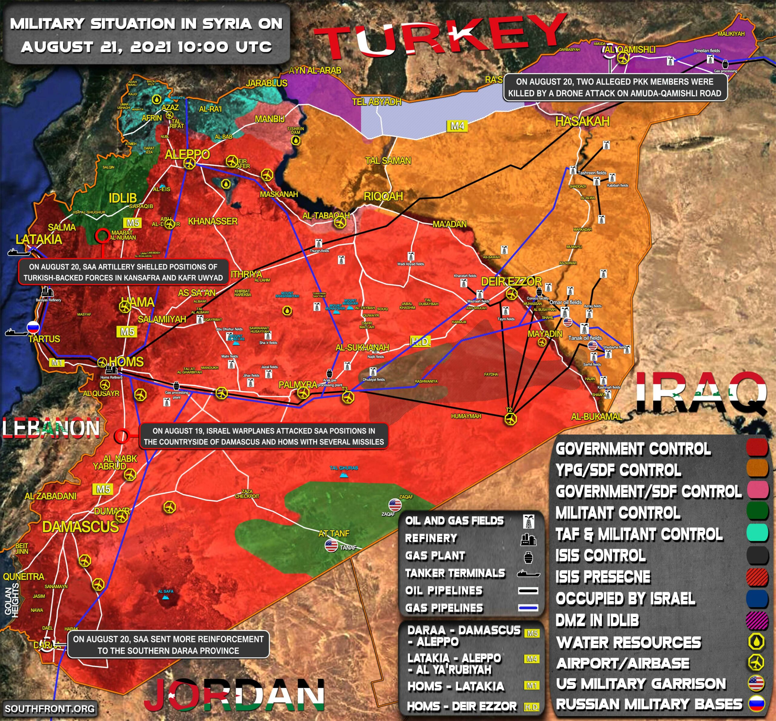 Military Situation In Syria On August 21, 2021 (Map Update)