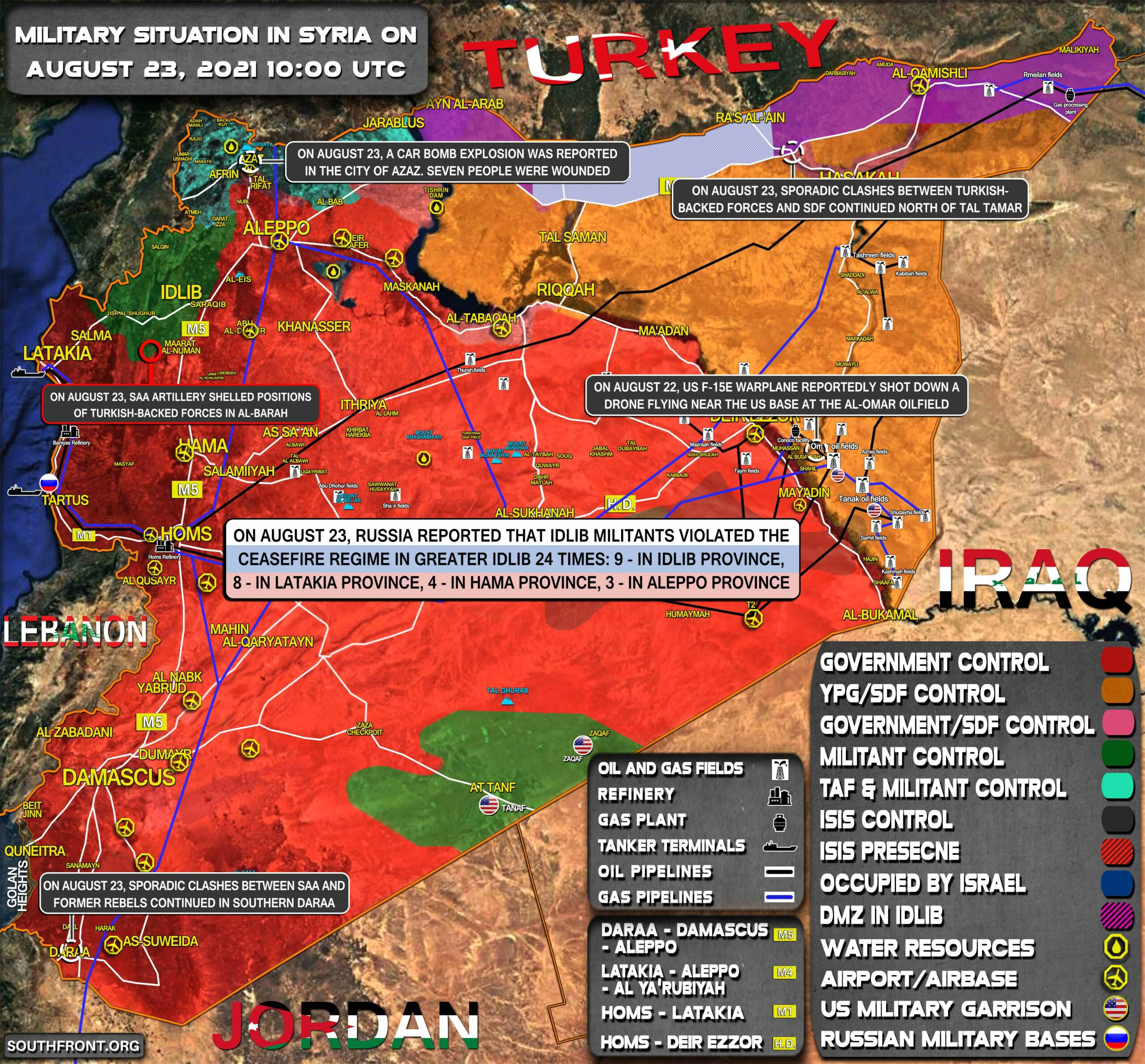 Military Situation In Syria On August 23, 2021 (Map Update)