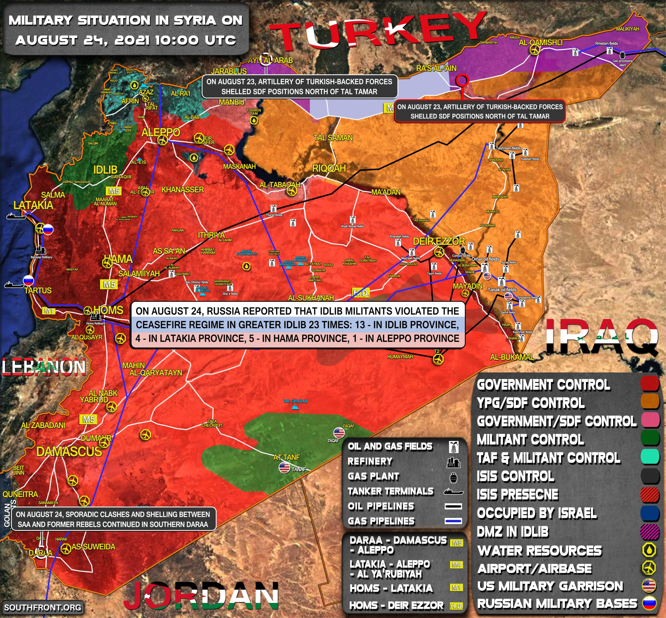 Military Situation In Syria On August 24, 2021 (Map Update)