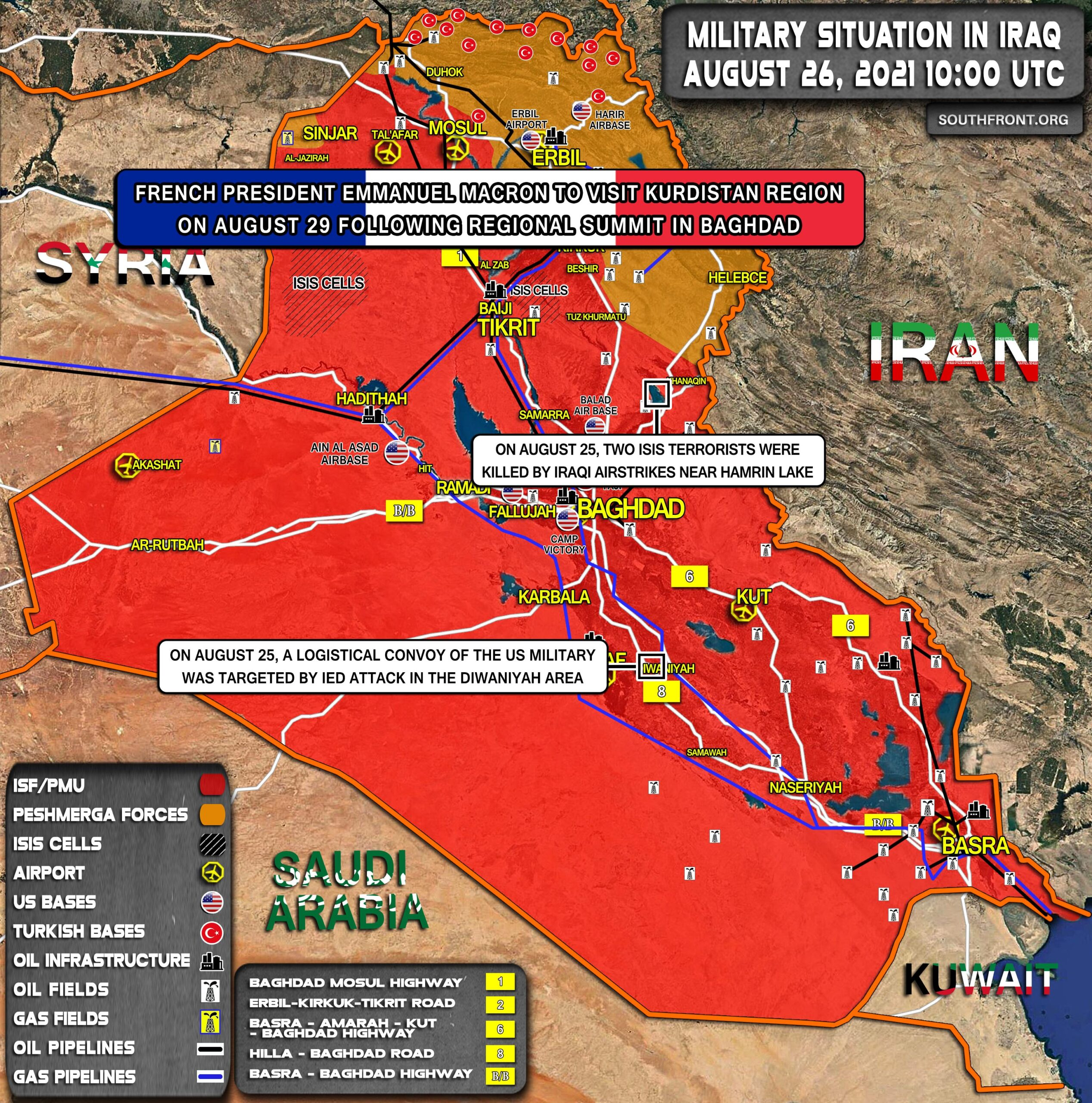 Military Situation In Iraq On August 26, 2021 (Map Update)