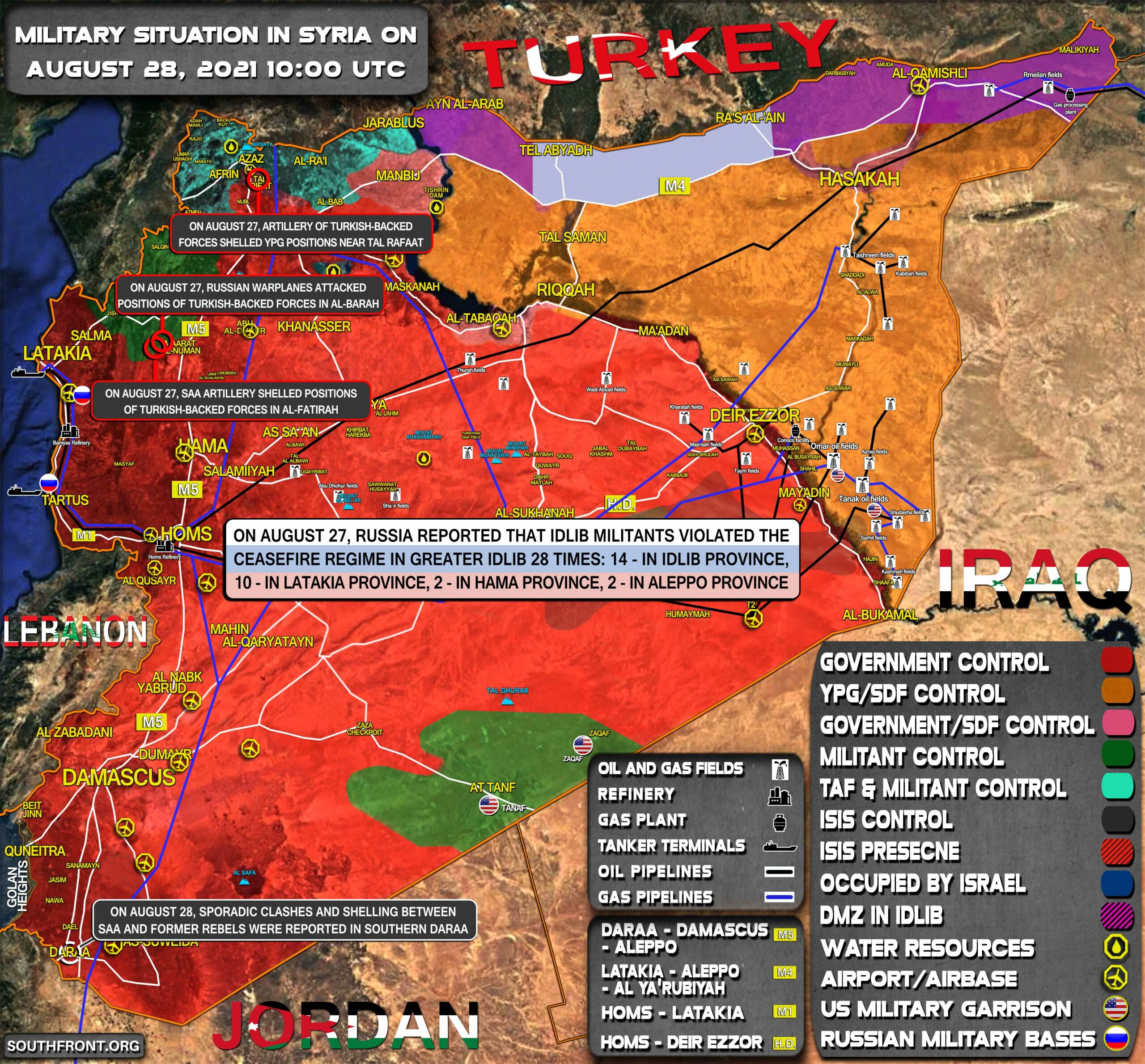 Military Situation In Syria On August 28, 2021 (Map Update)
