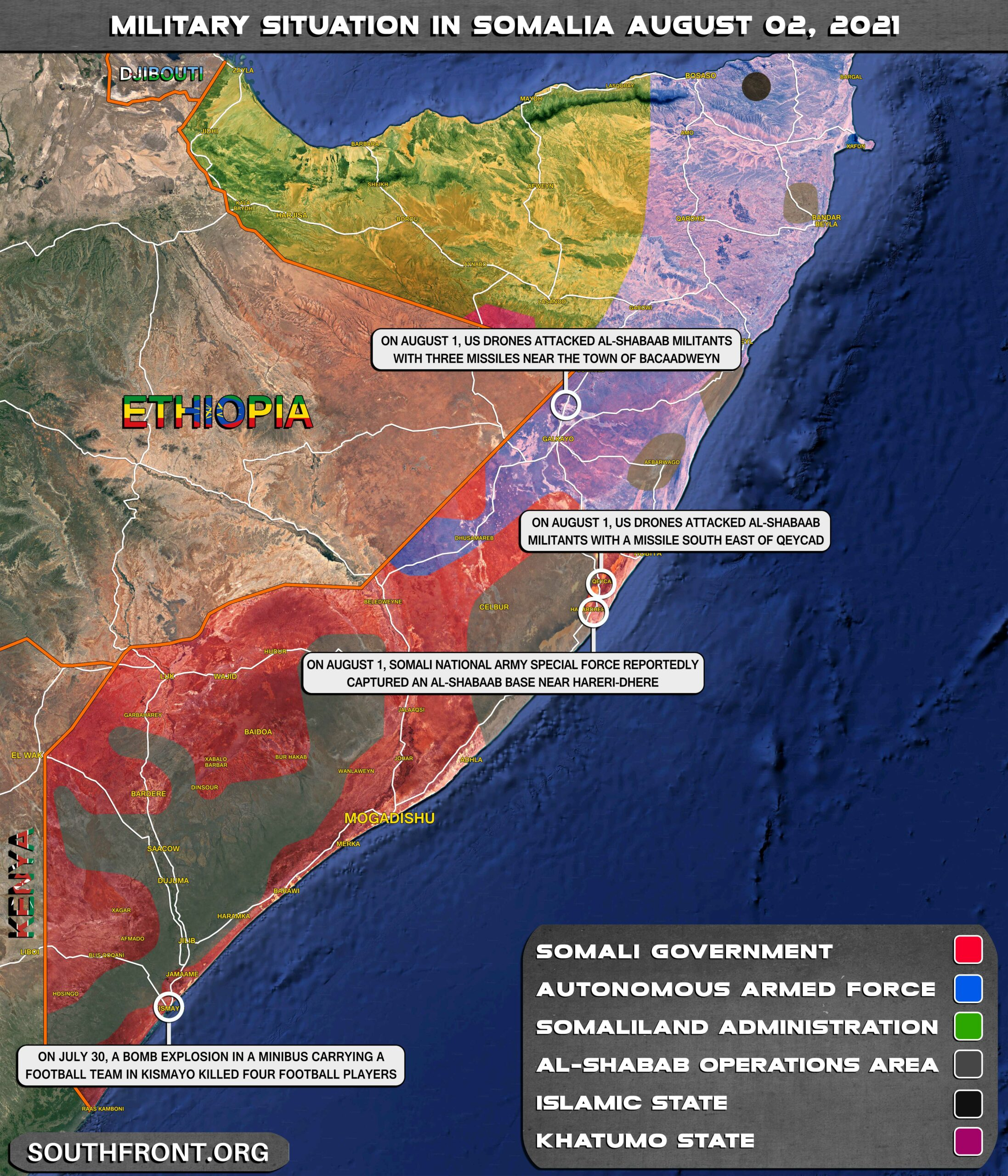 Military Situation In Somalia On August 2, 2021 (Map Update)