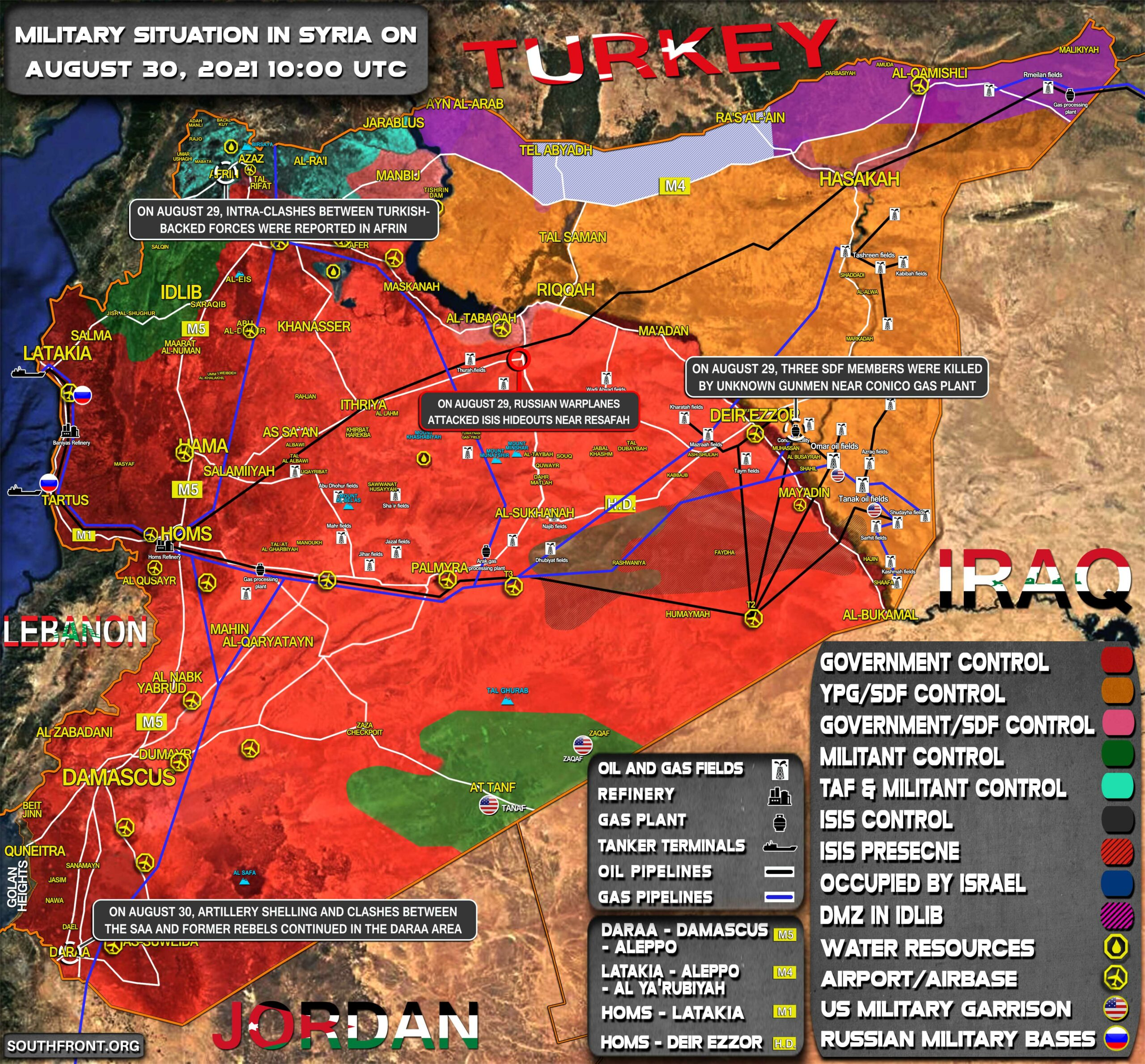 Military Situation In Syria On August 30, 2021 (Map Update)