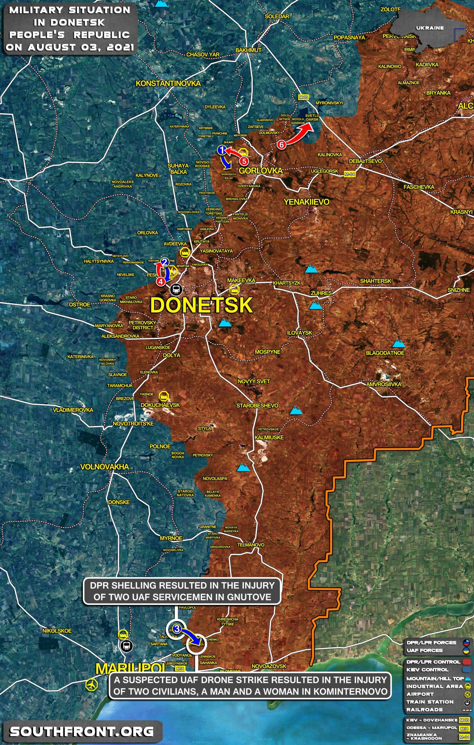 Military Situation In Donetsk People's Republic On August 3, 2021 (Map Update)