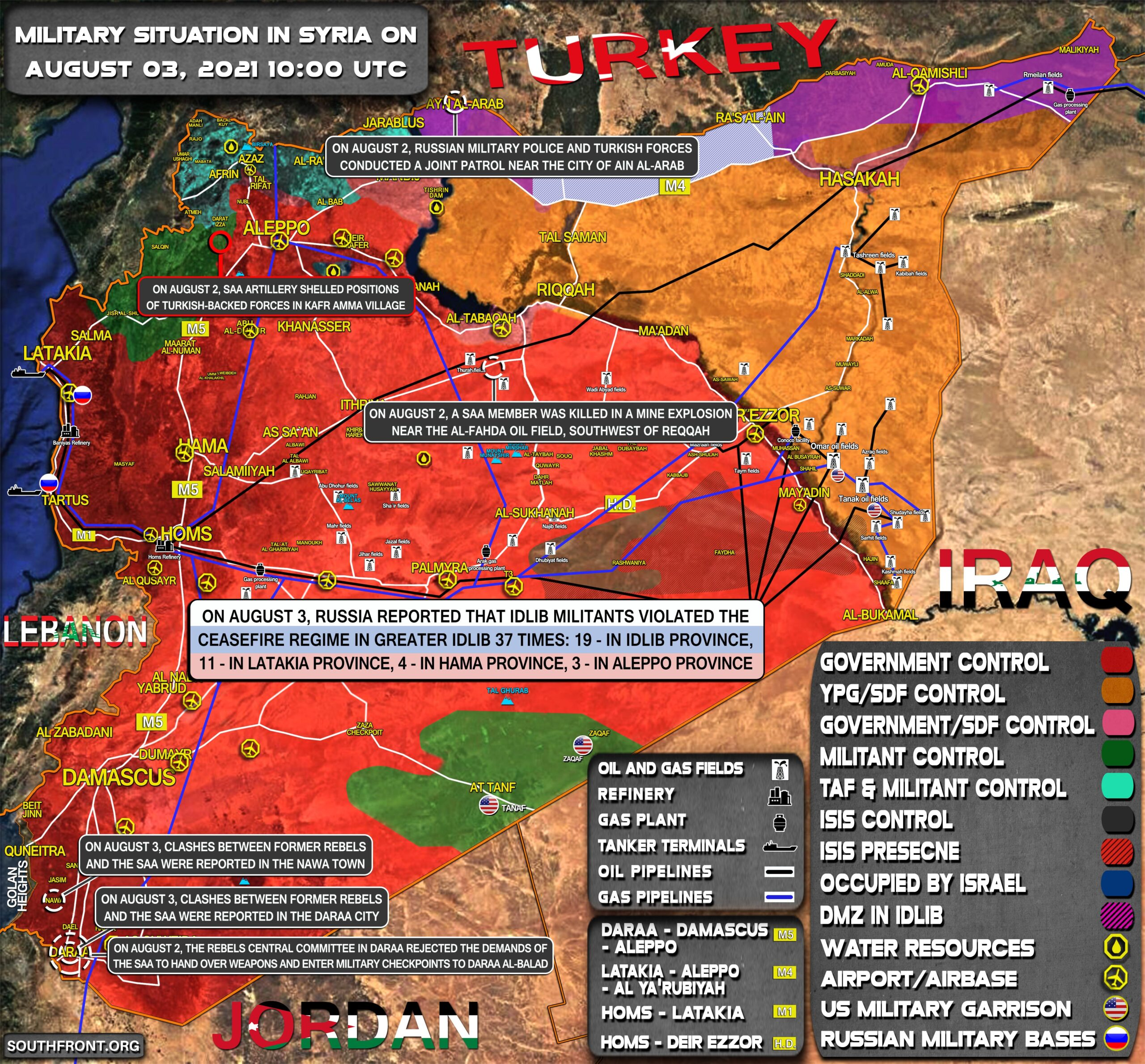 Military Situation In Syria On August 3, 2021 (Map Update)