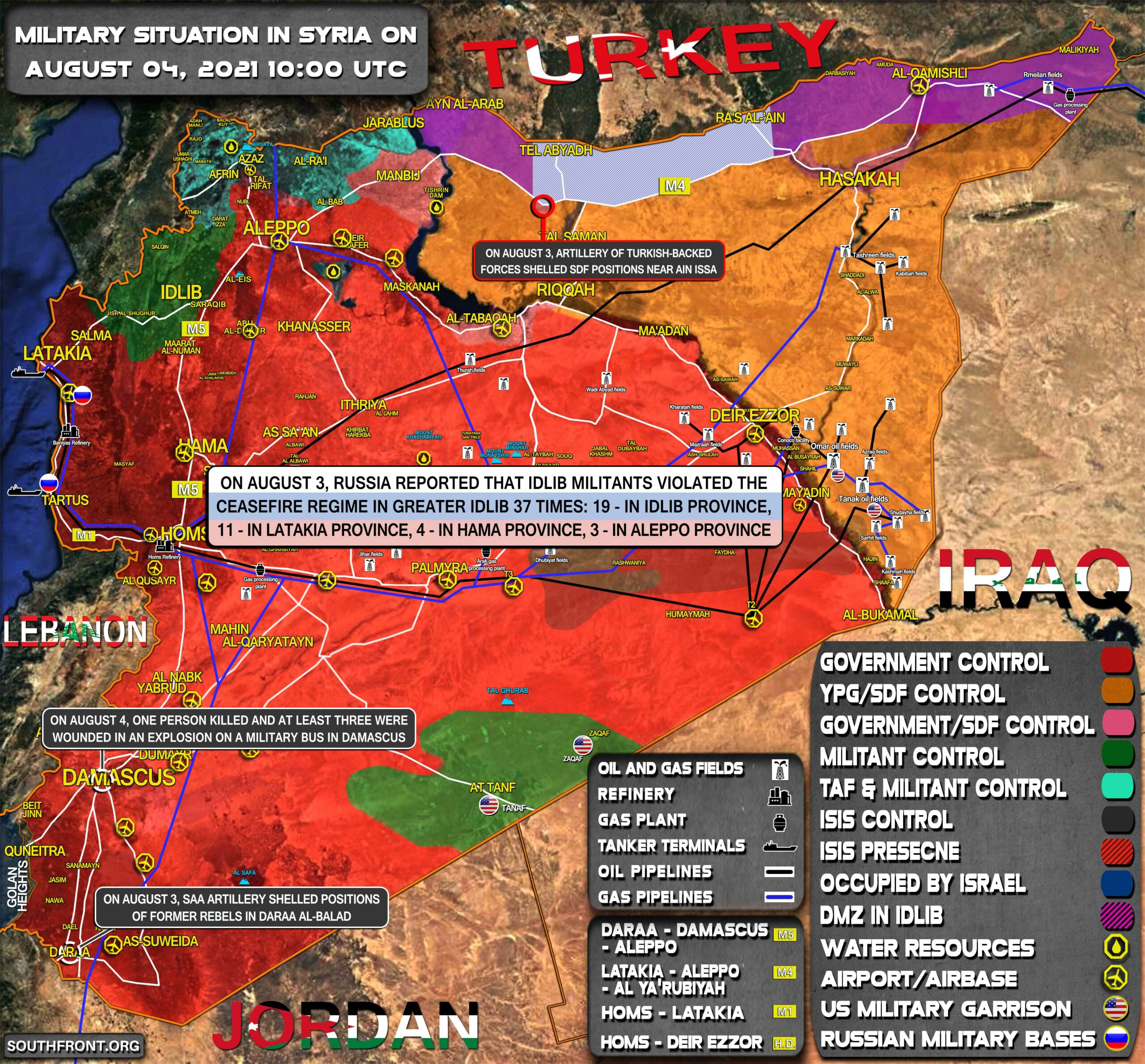 Military Situation In Syria On August 4, 2021 (Map Update)