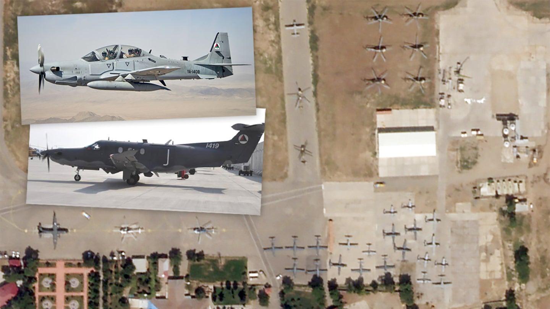 Satellite Images Prove Dozens Of Afghan Military Aircraft Fled To Uzbekistan