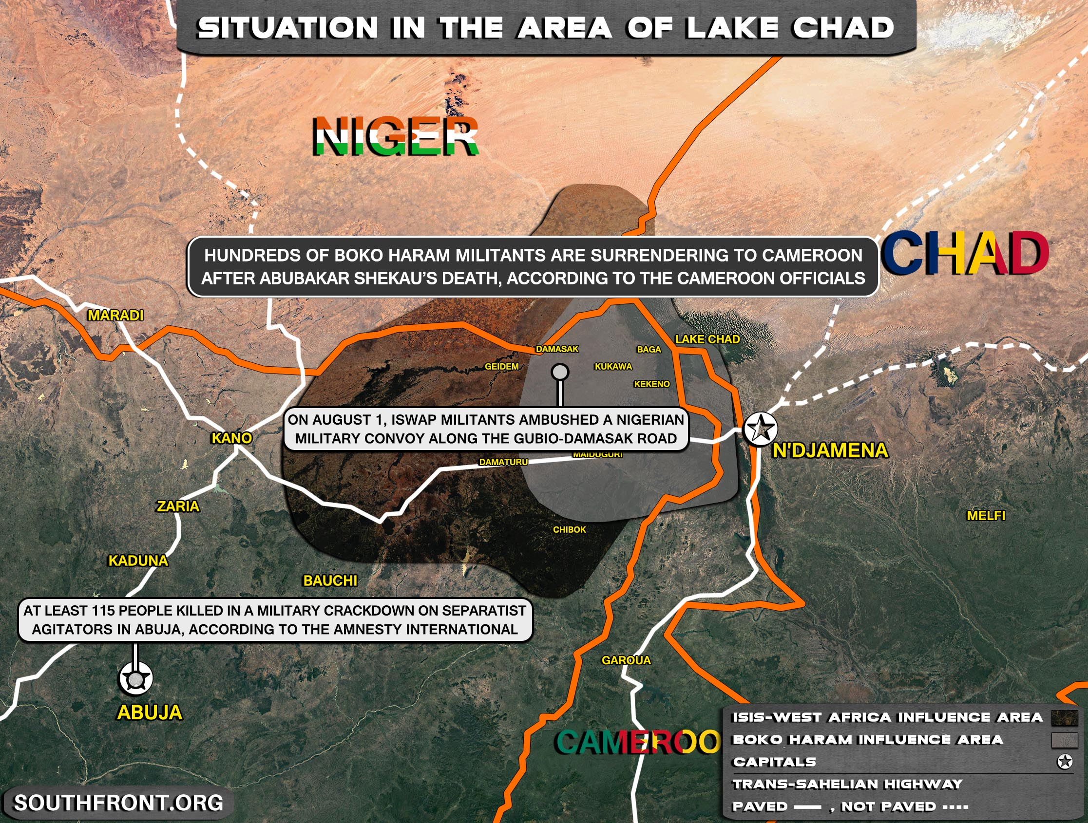 Military Situation In The Lake Chad Area On August 5, 2021 (Map Update)