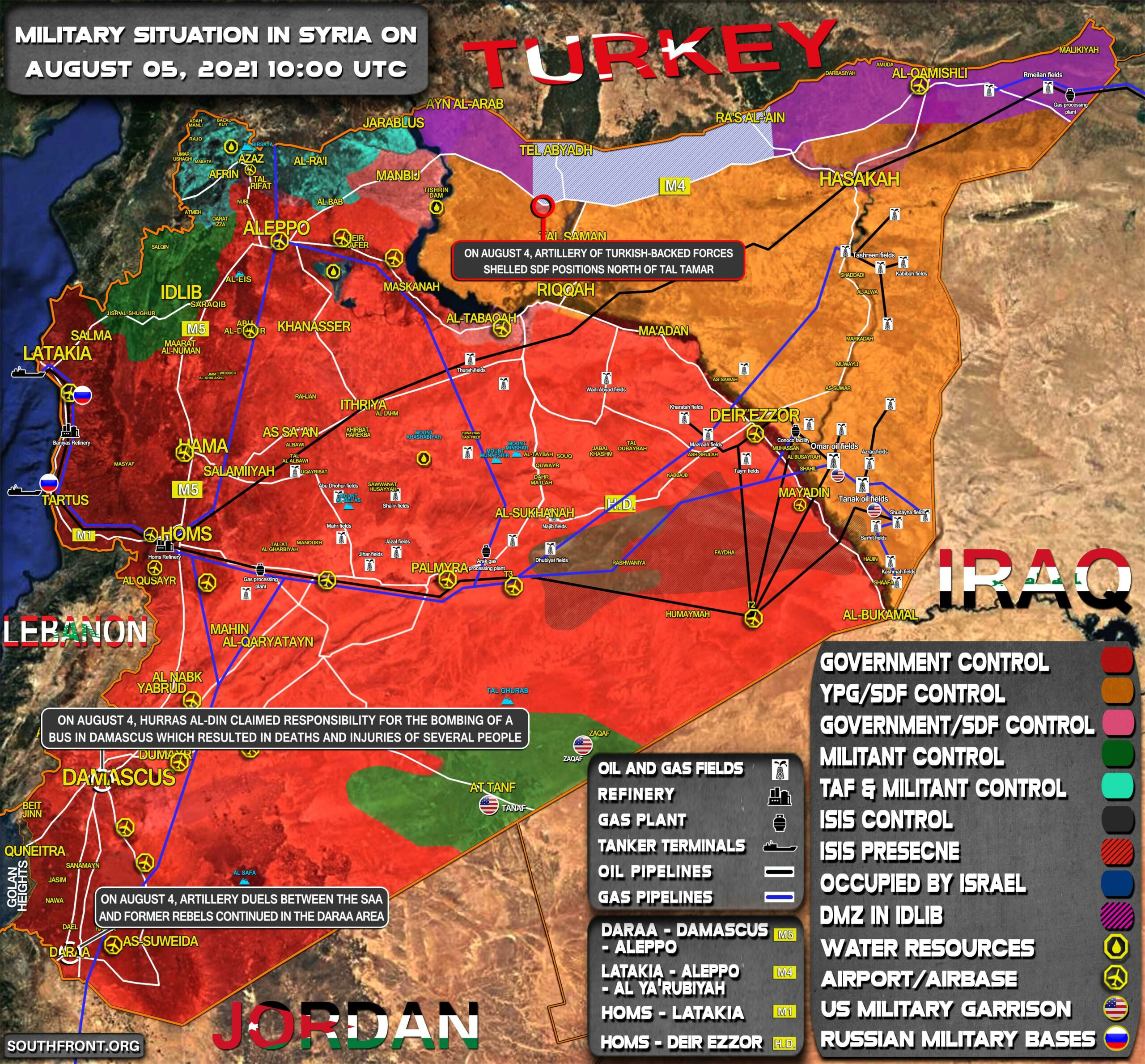 Military Situation In Syria On August 5, 2021 (Map Update)