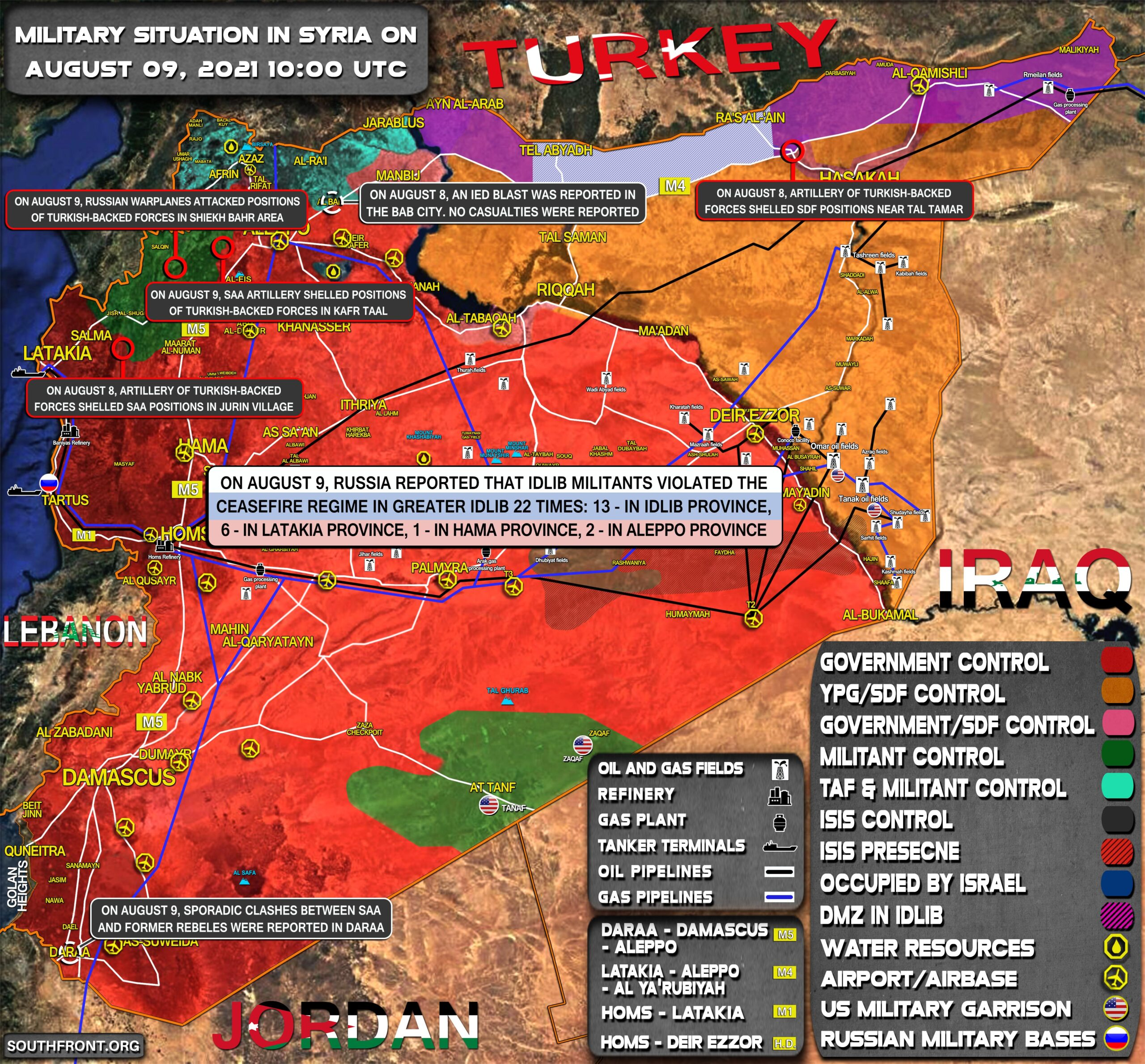 Military Situation In Syria On August 9, 2021 (Map Update)