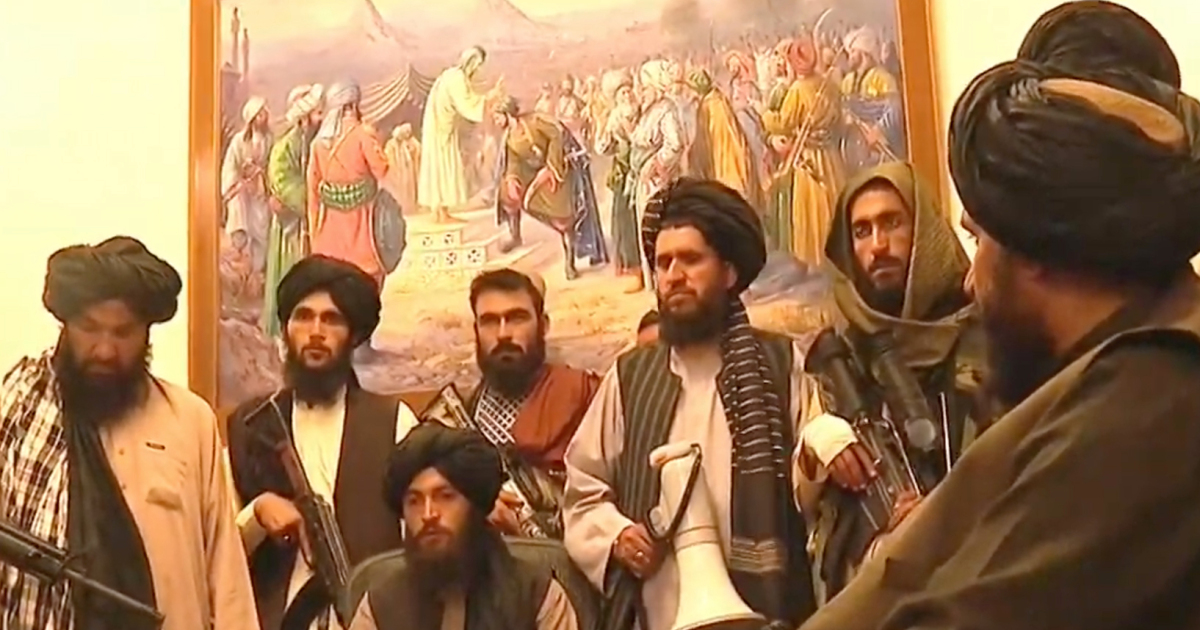 Taliban Officials Interviewed At Afghan Presidential Palace Following Reports Of Explosions In Kabul (Videos, Photos)