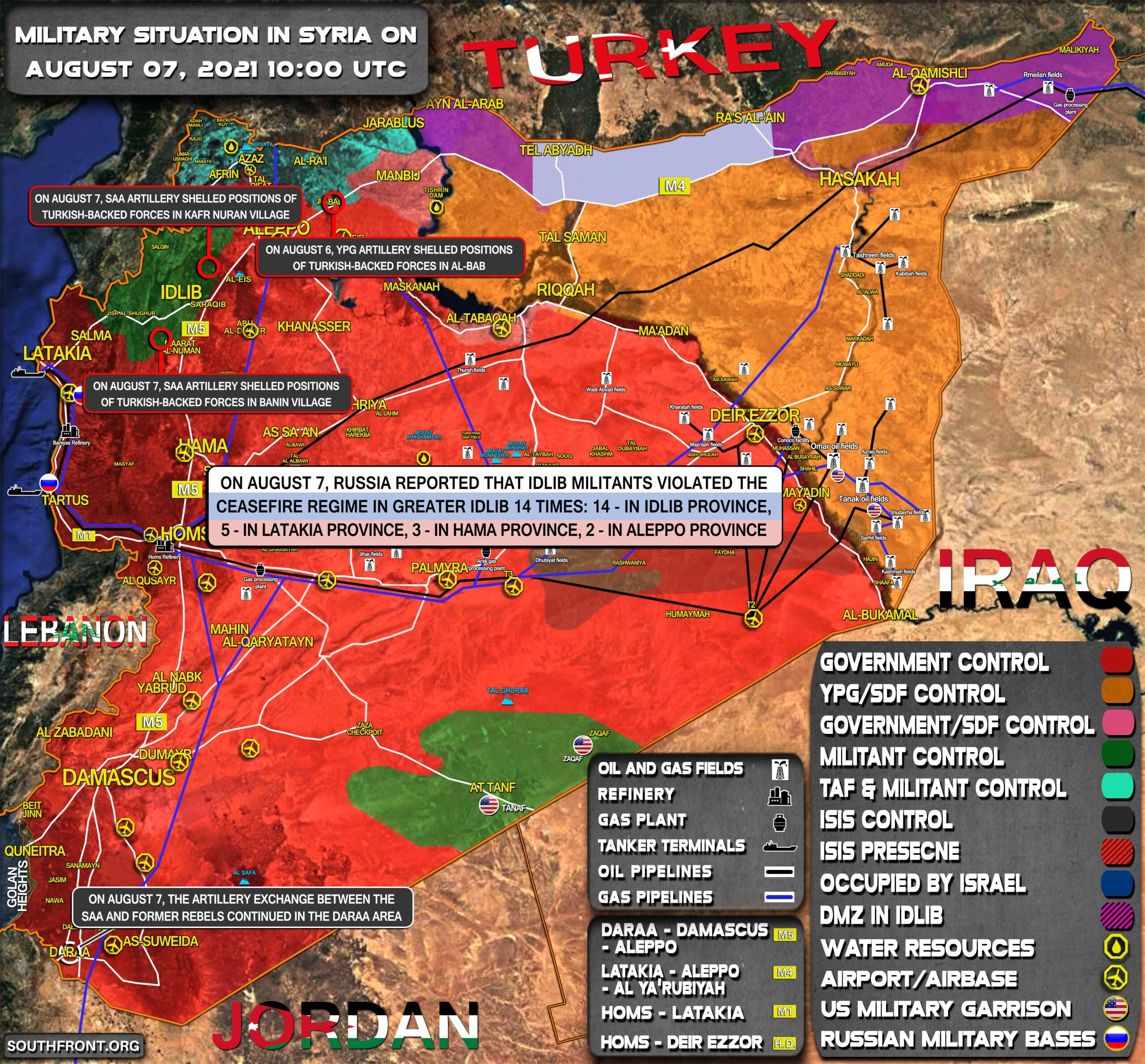 Military Situation In Syria On August 7, 2021 (Map Update)