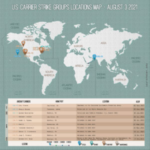 Locations Of US Carrier Strike Groups – August 3, 2021