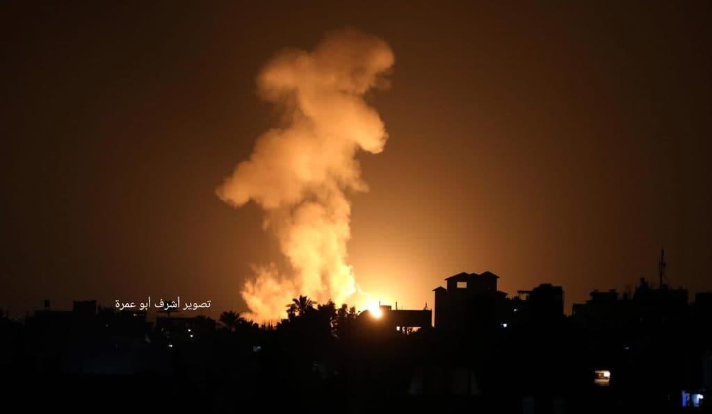 Israeli Air Strikes Hit Hamas Facilities In Gaza