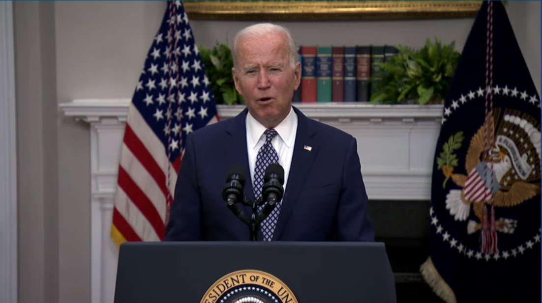 """Biden Finally Does 6-Minute Afghan Presser, Reiterates """"Support Of Allies"""", Takes No Questions"""