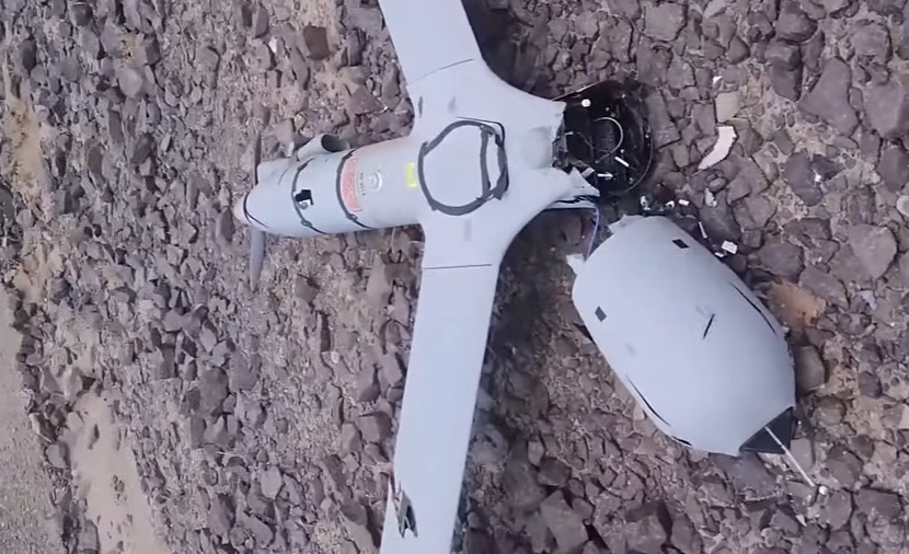 Houthis Release Footage Of Downed US ScanEagle 2 Drone