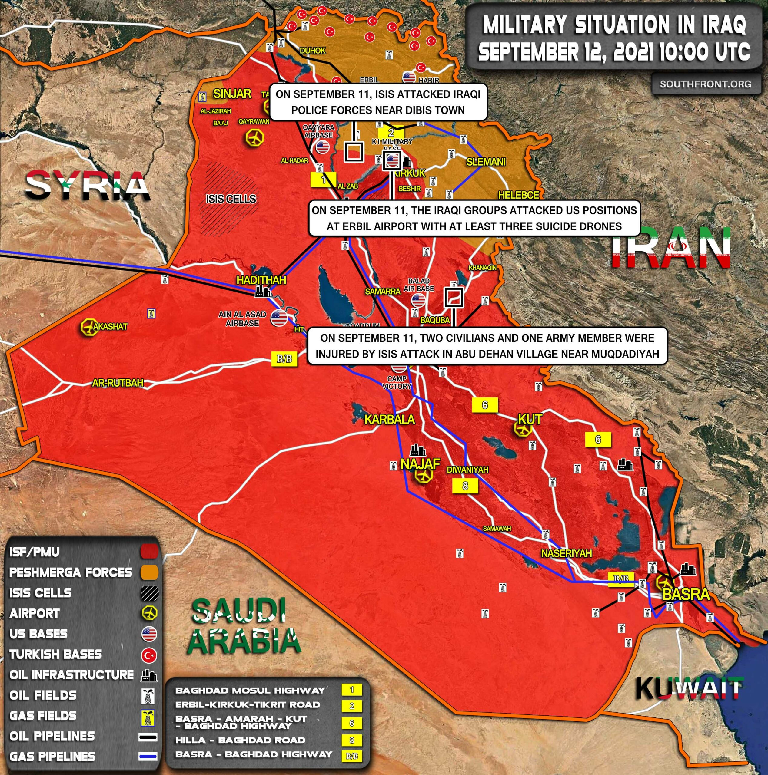 Military Situation In Iraq On September 12, 2021 (Map Update)