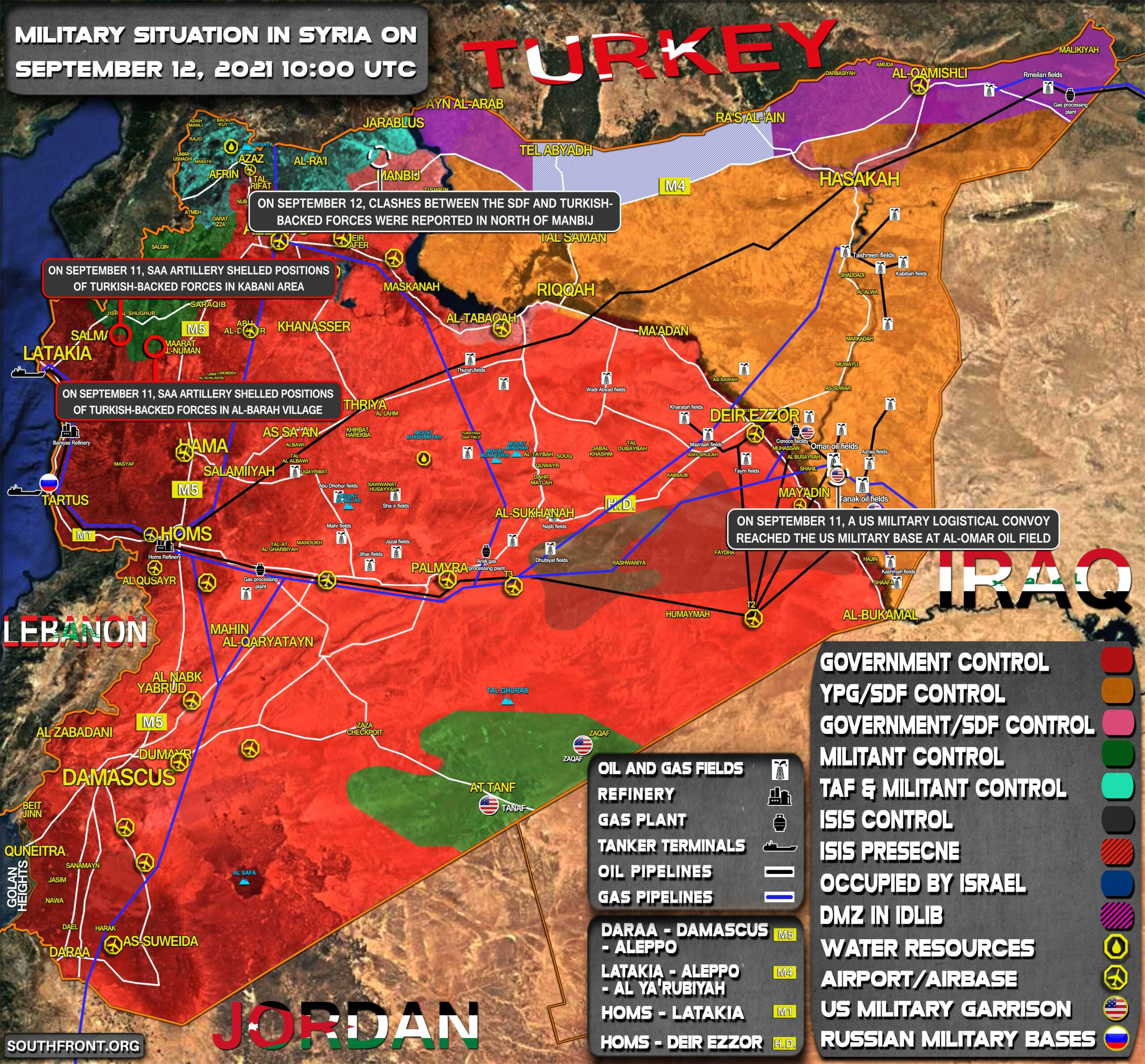 Military Situation In Syria On September 12, 2021 (Map Update)