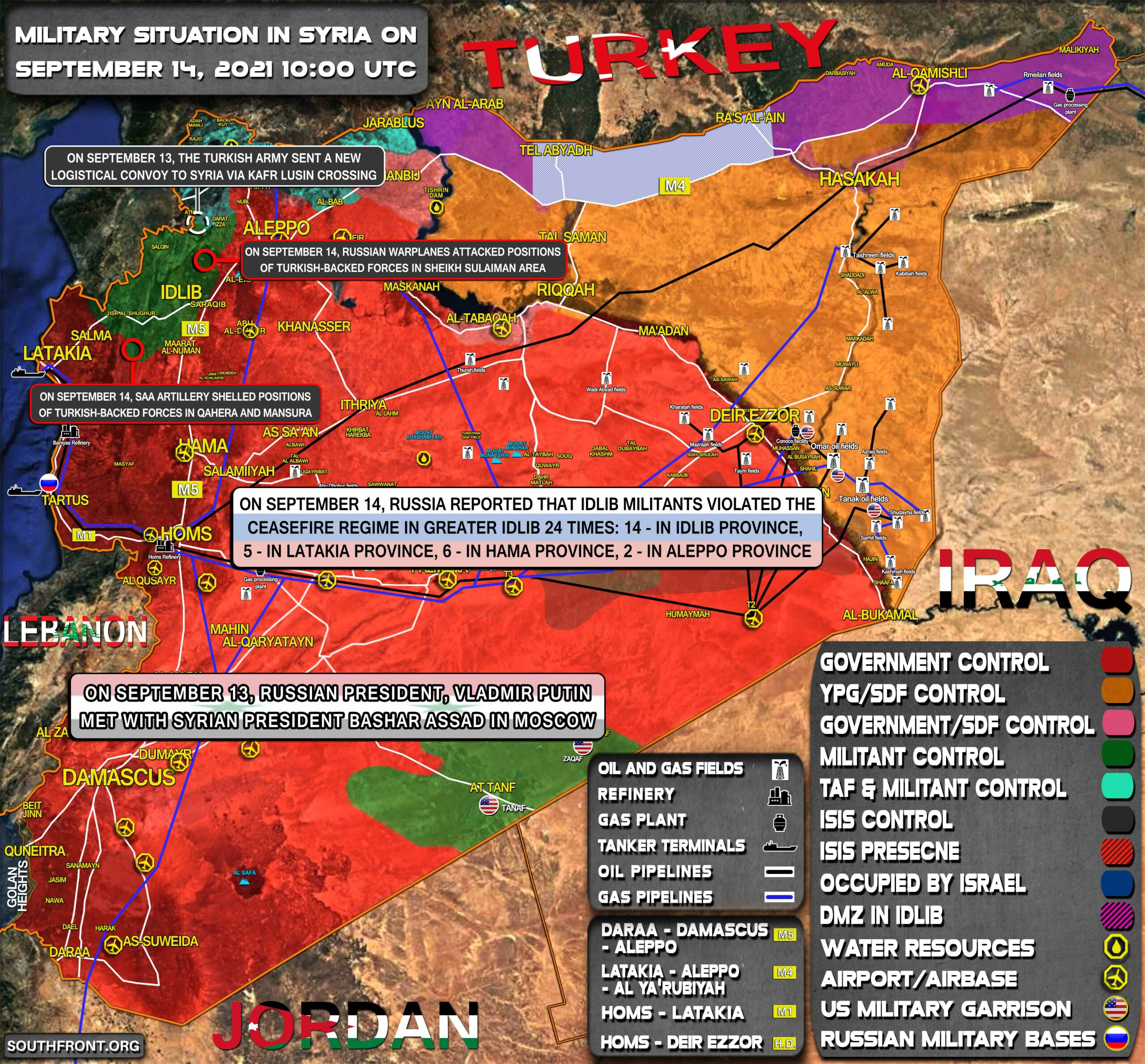 Military Situation In Syria On September 14, 2021 (Map Update)