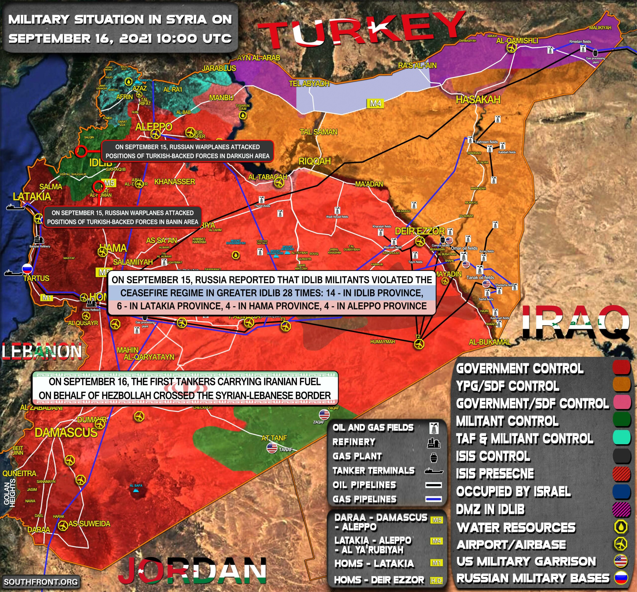 Military Situation In Syria On September 16, 2021 (Map Update)