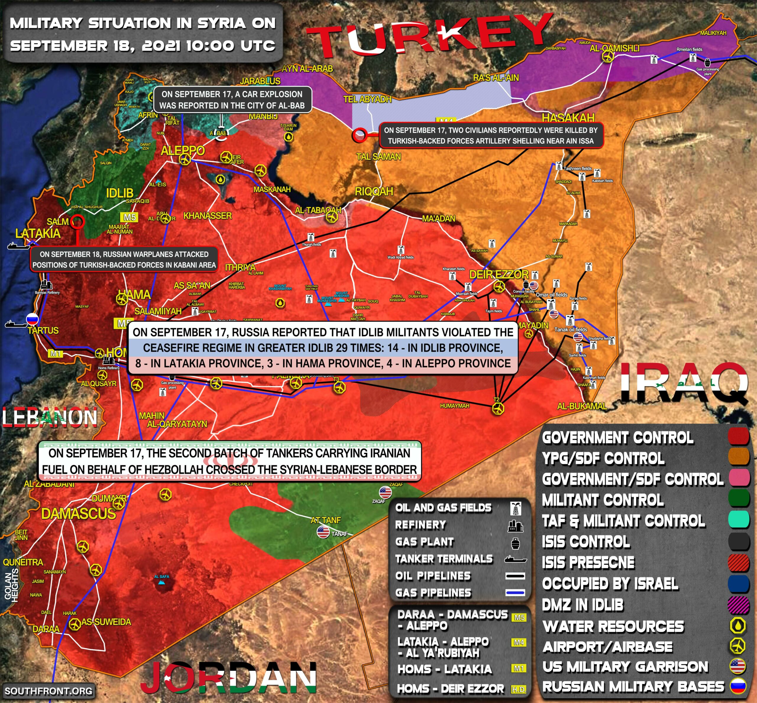 Military Situation In Syria On September 18, 2021 (Map Update)