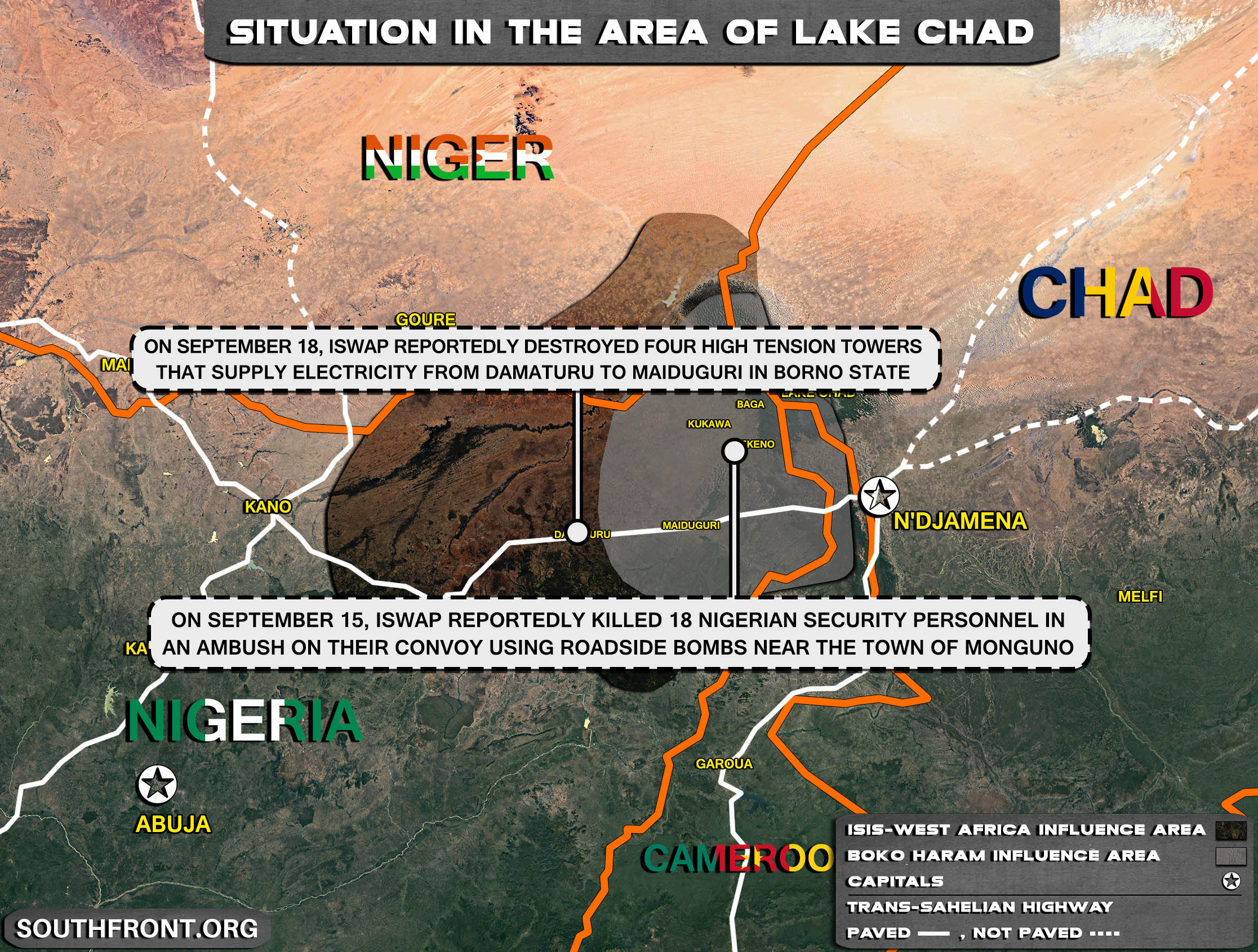 Military Situation In The Lake Chad Area On September 19, 2021 (Map Update)