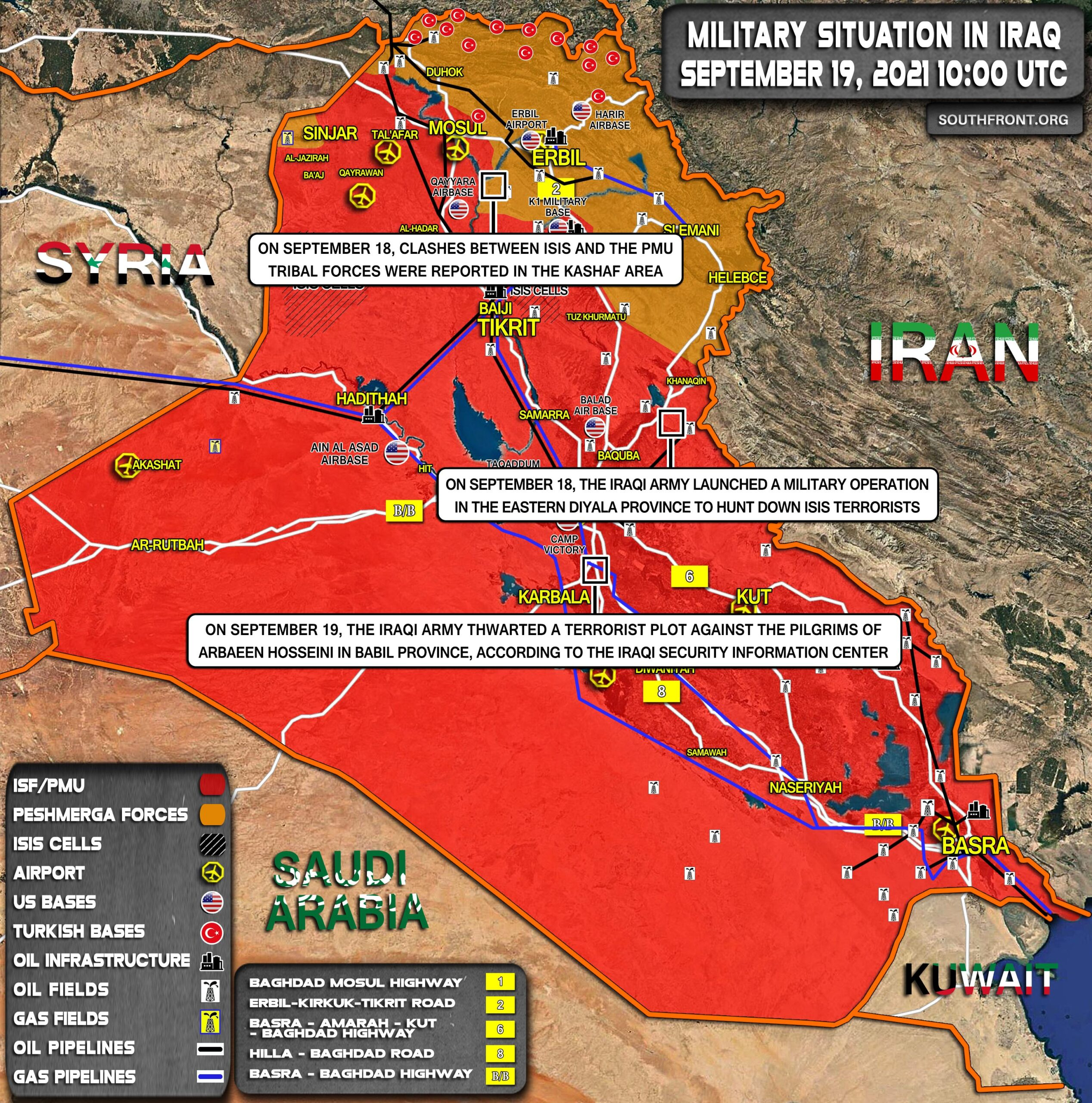 Military Situation In Iraq On September 19, 2021 (Map Update)