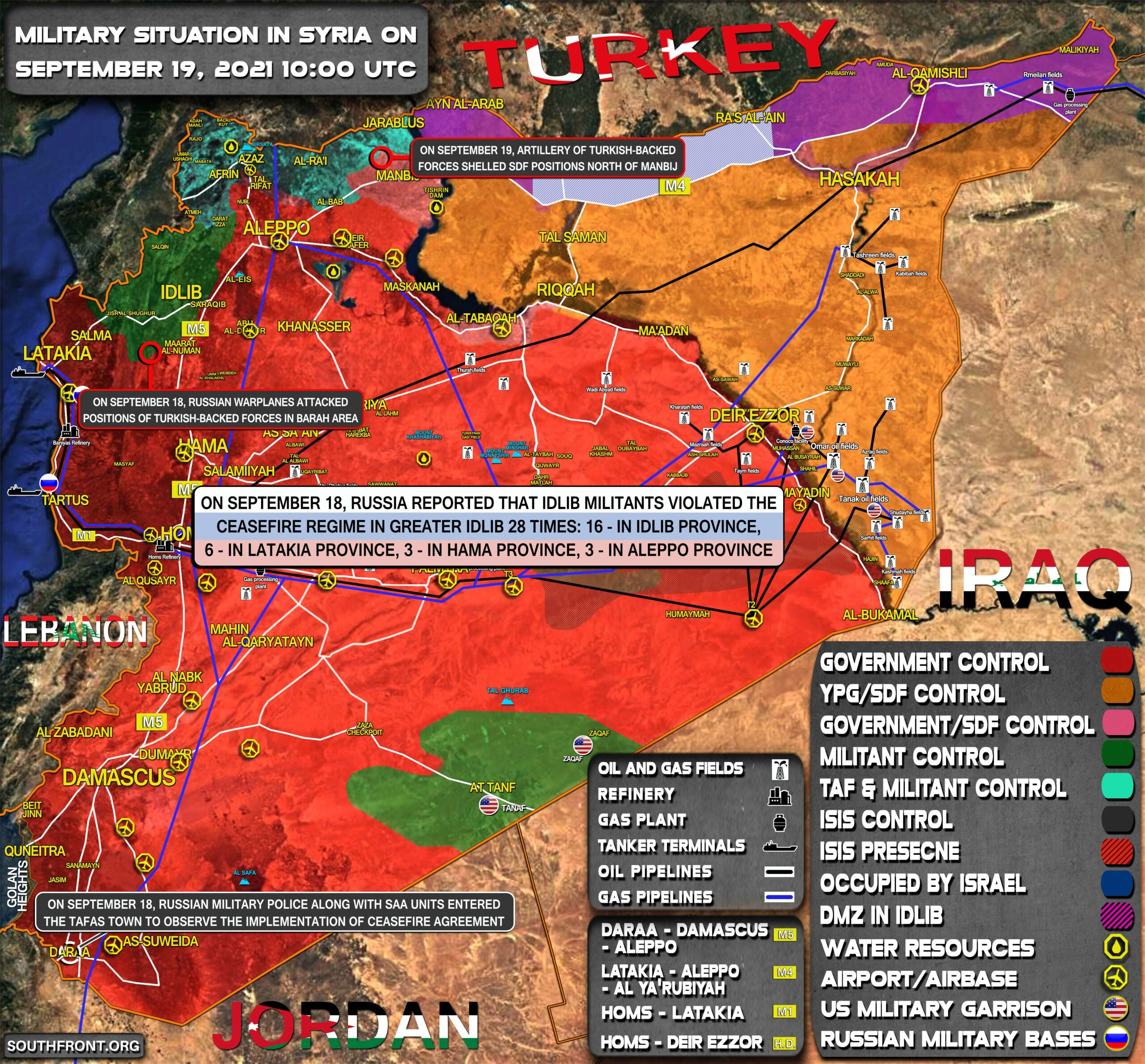 Military Situation In Syria On September 19, 2021 (Map Update)