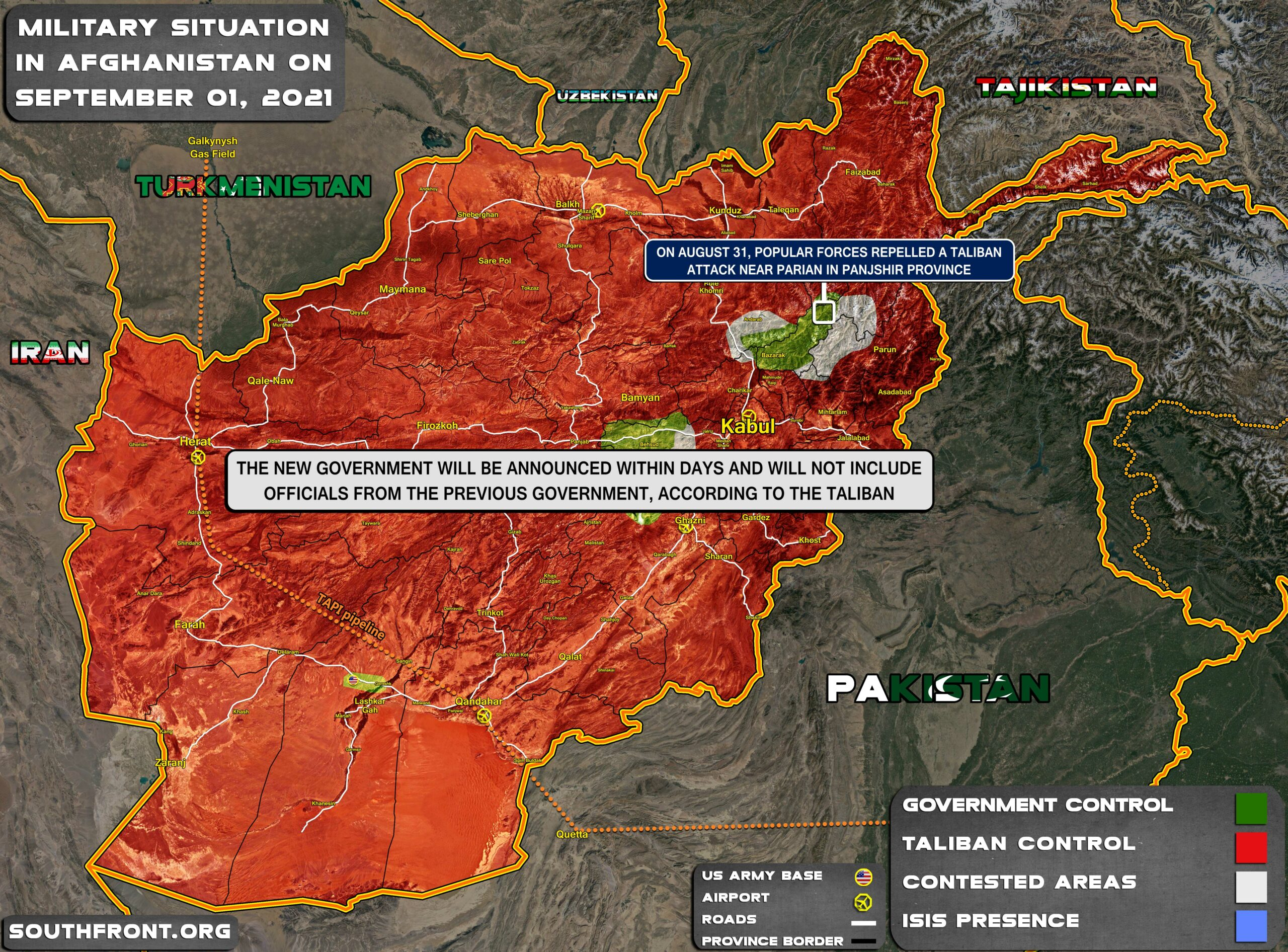 Military Situation In Afghanistan On September 1, 2021 (Map Update)