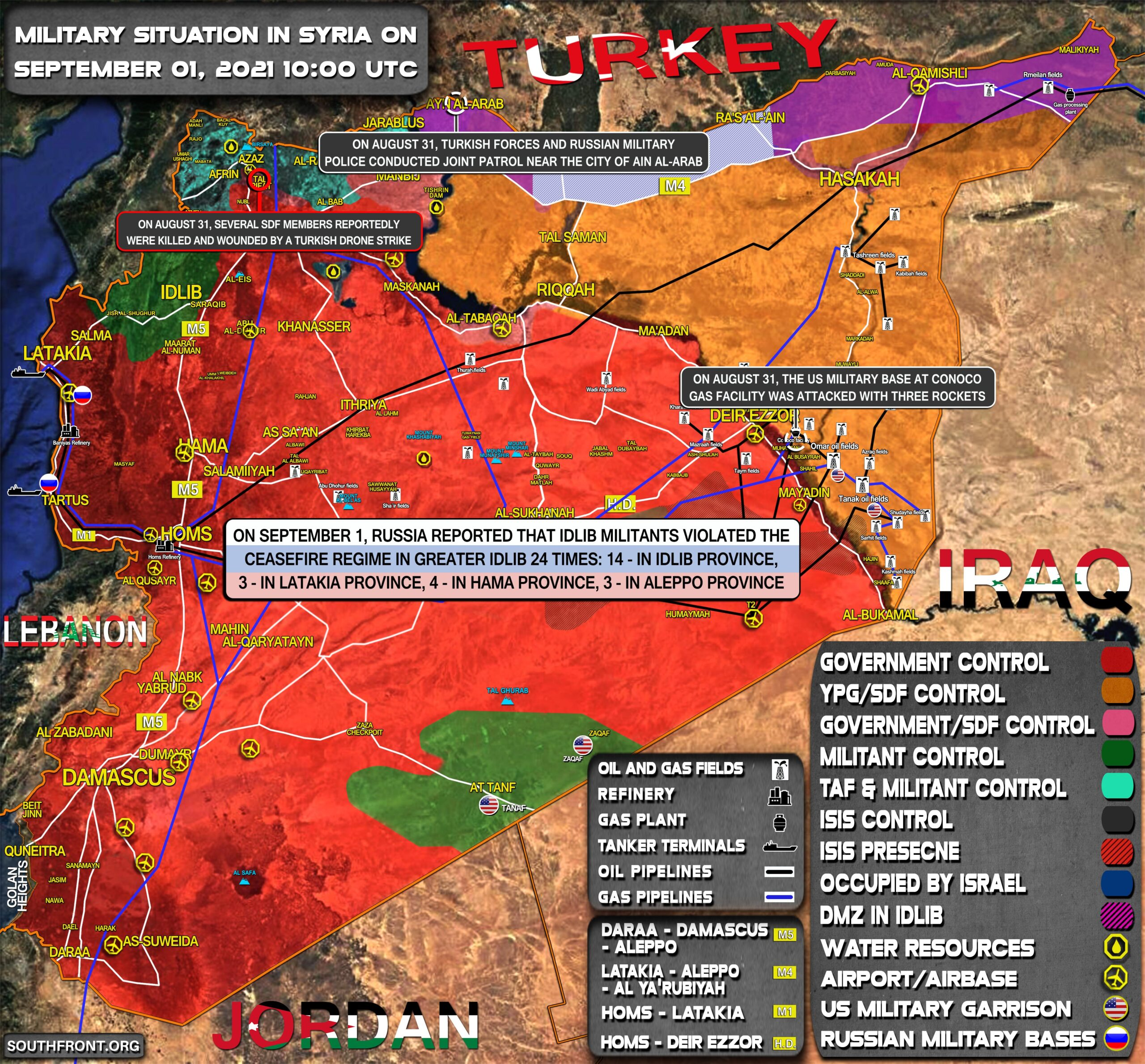 Military Situation In Syria On September 1, 2021 (Map Update)