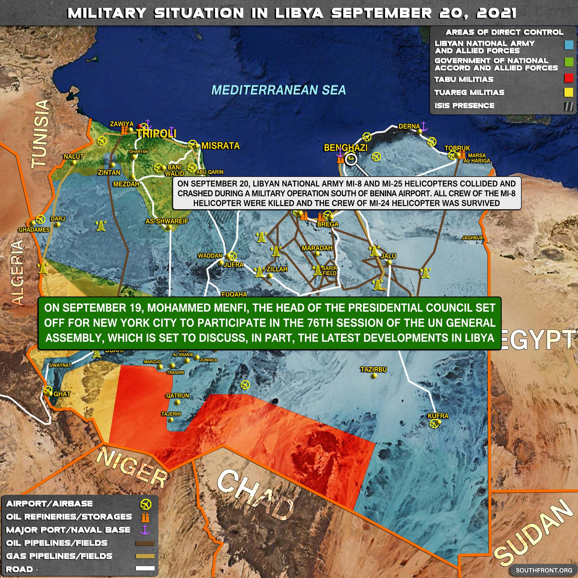 Military Situation In Libya On September 20, 2021 (Map Update)