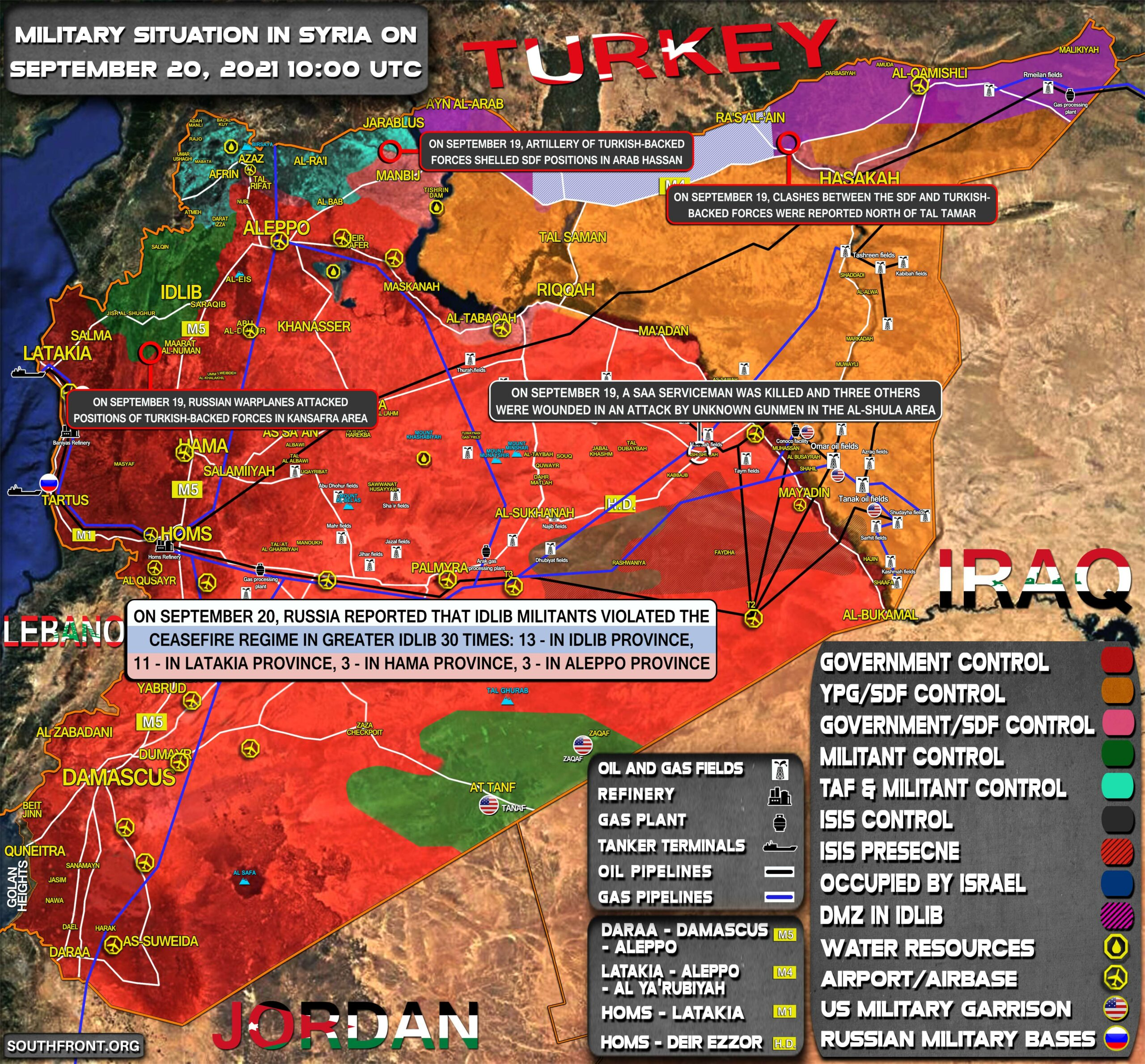 Military Situation In Syria On September 20, 2021 (Map Update)
