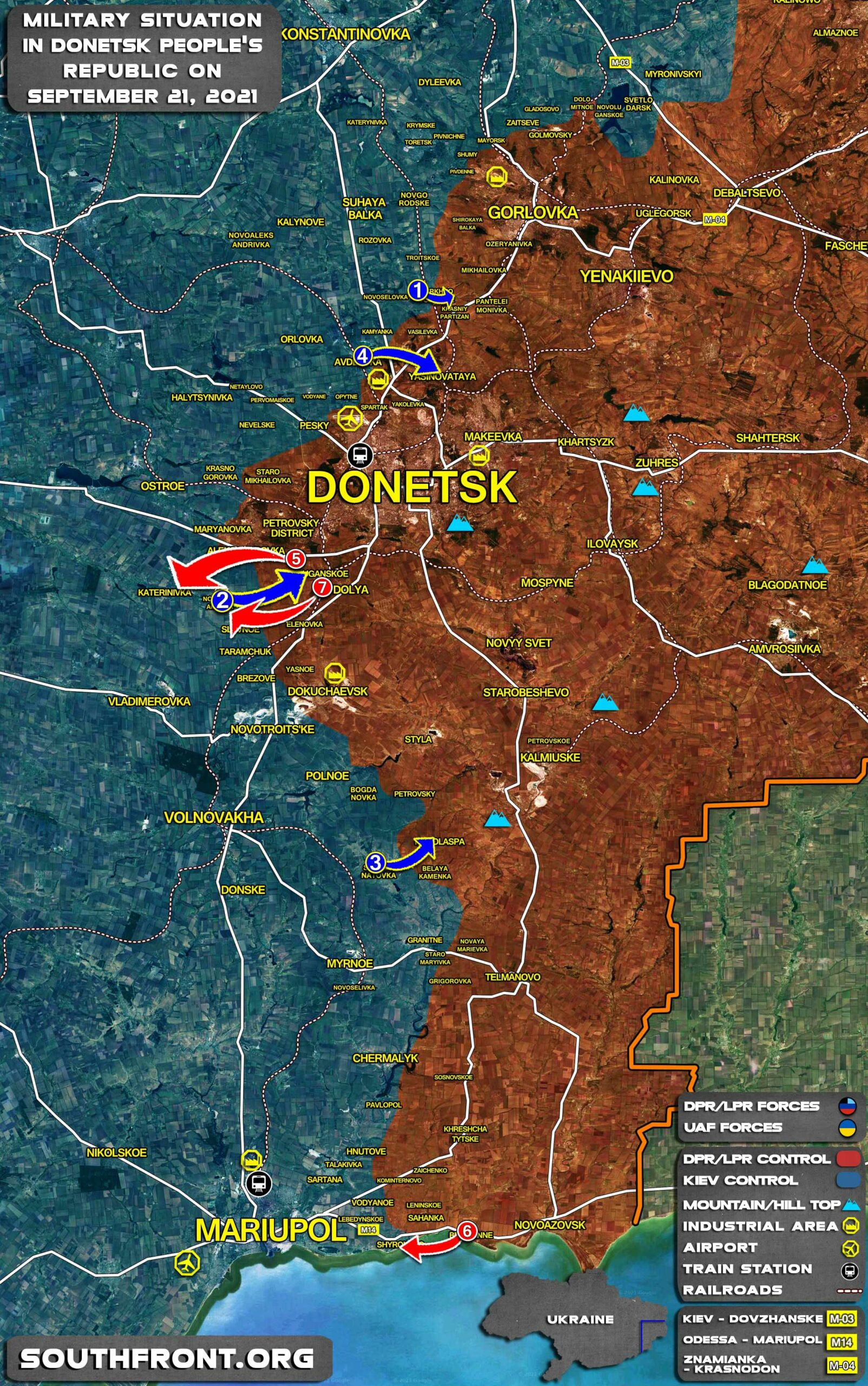 Military Situation In Donetsk People's Republic On September 21, 2021 (Map Update)