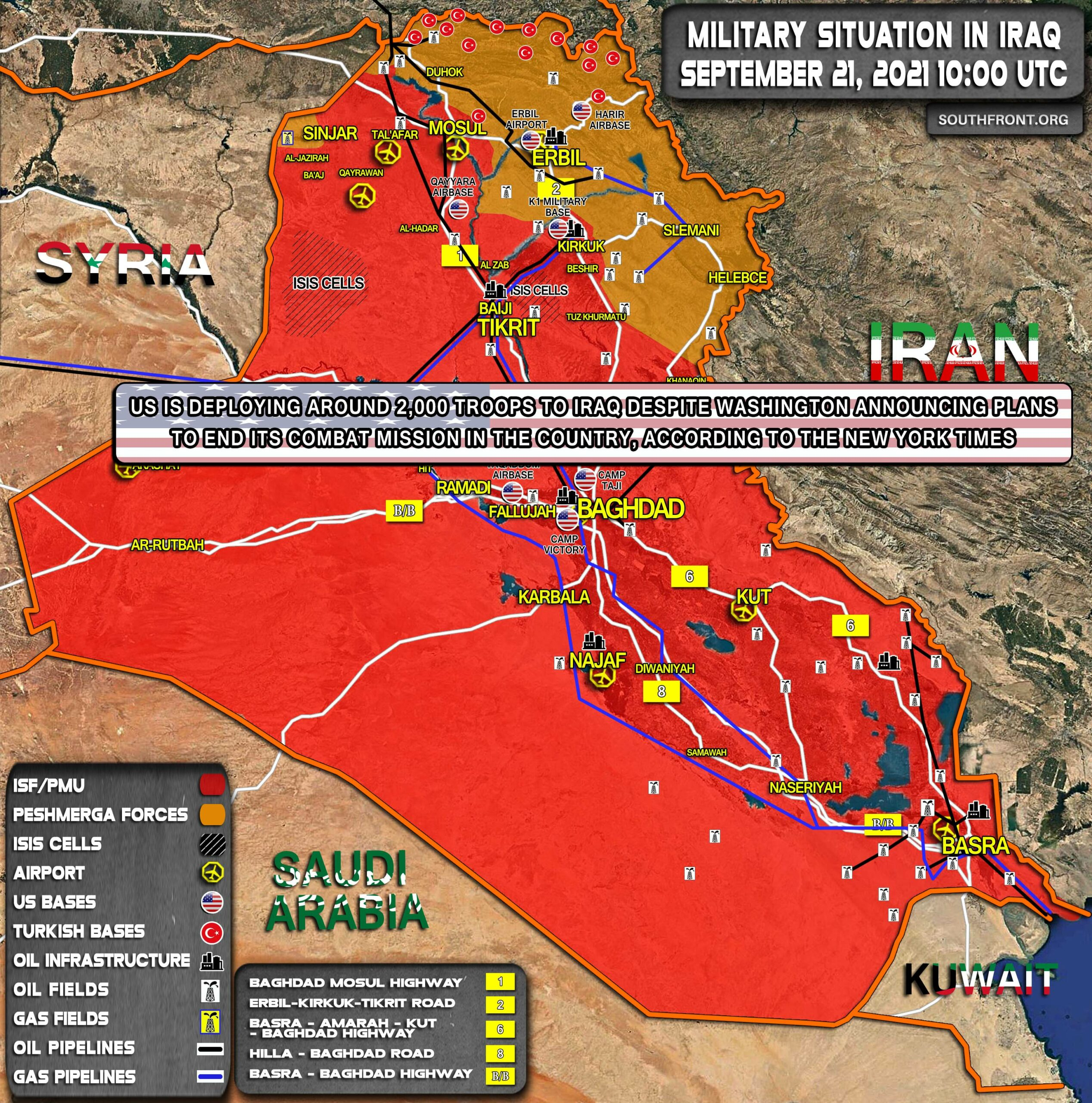 Military Situation In Iraq On September 21, 2021 (Map Update)