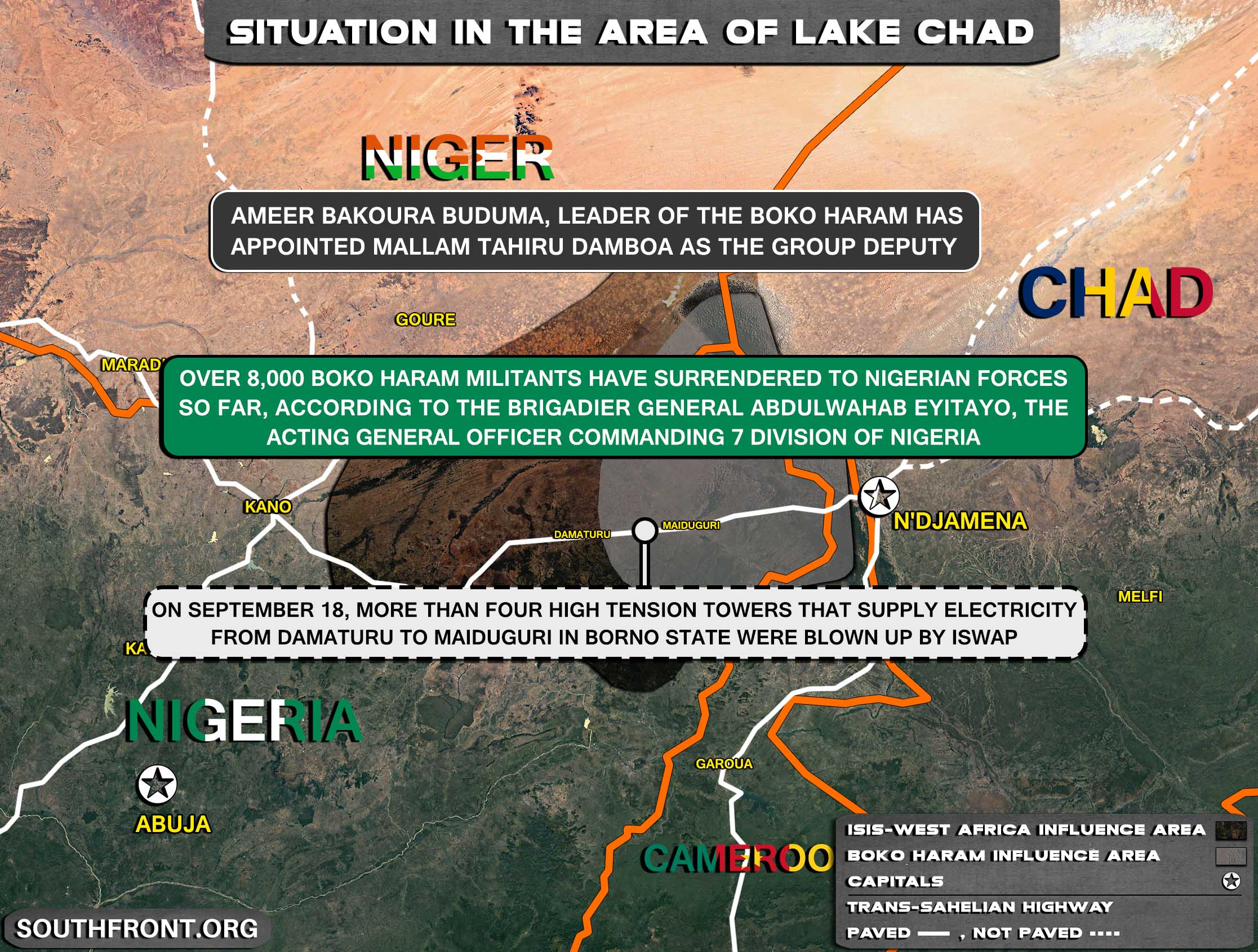 Military Situation In The Lake Chad Area On September 22, 2021 (Map Update)