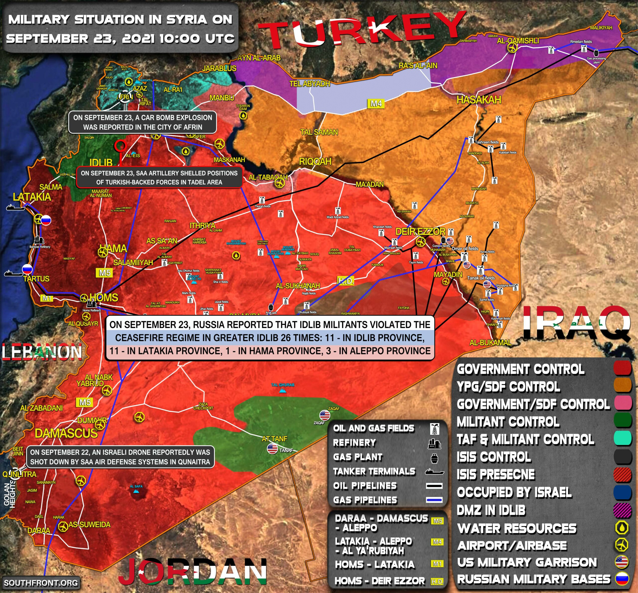 Military Situation In Syria On September 23, 2021 (Map Update)