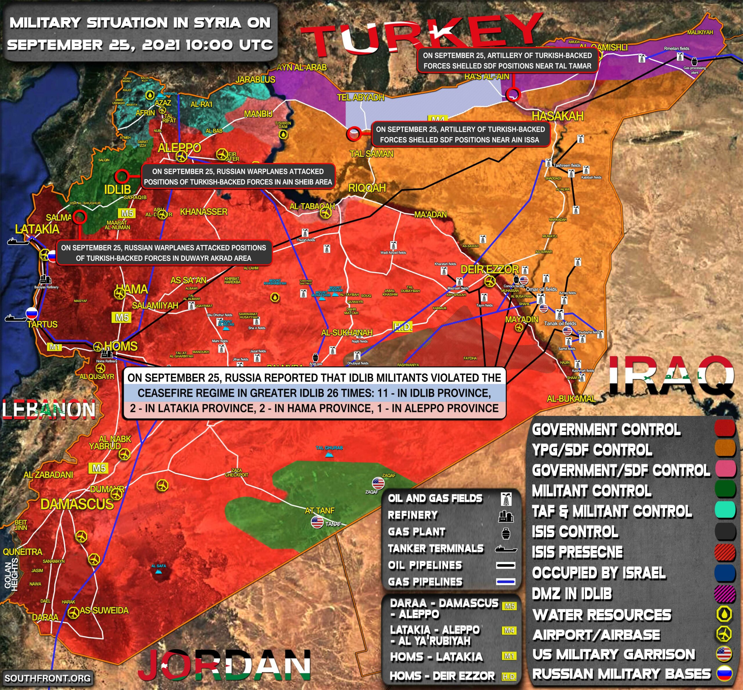 Military Situation In Syria On September 25, 2021 (Map Update)