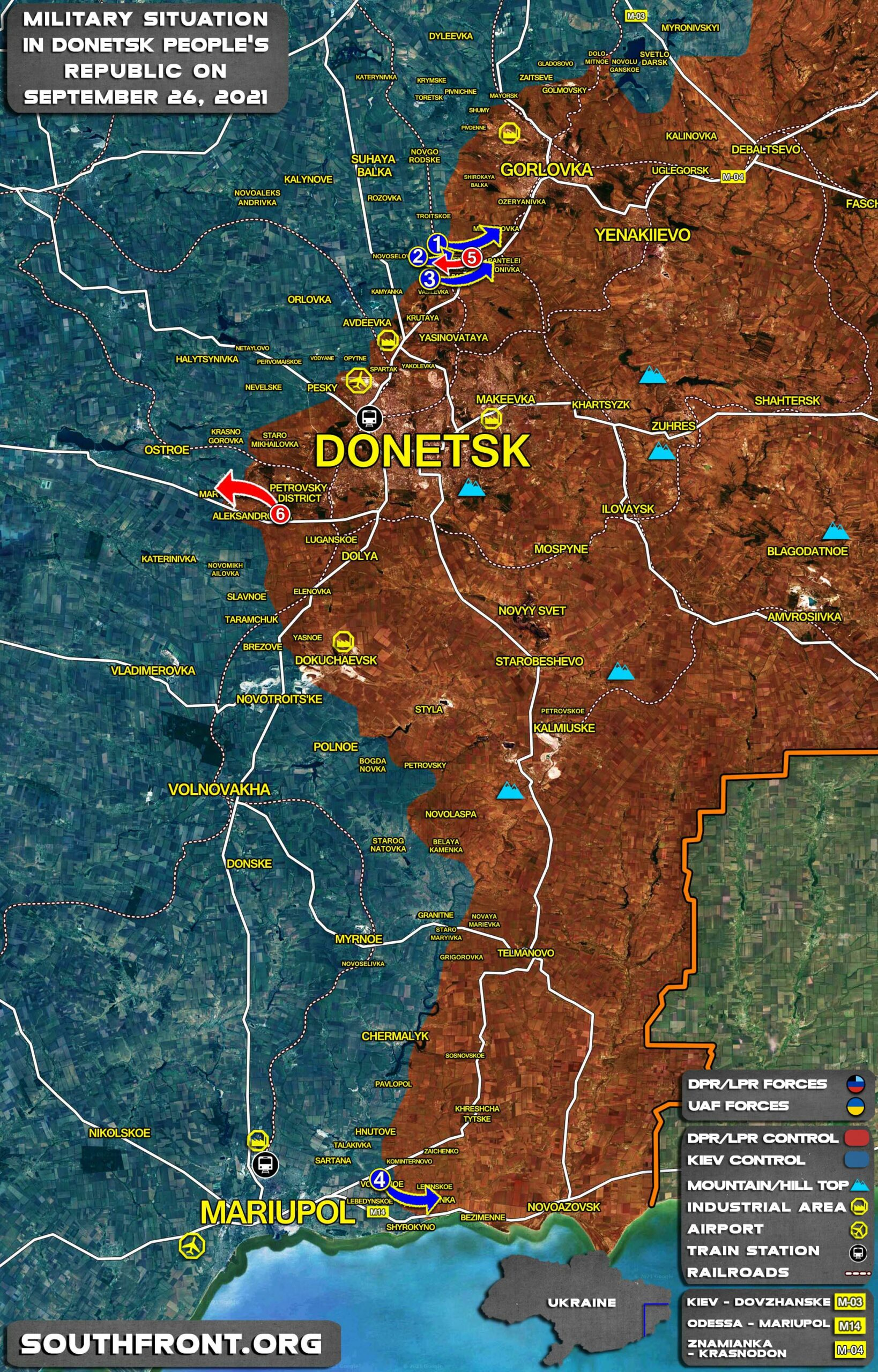 Military Situation In Donetsk People's Republic On September 26, 2021 (Map Update)