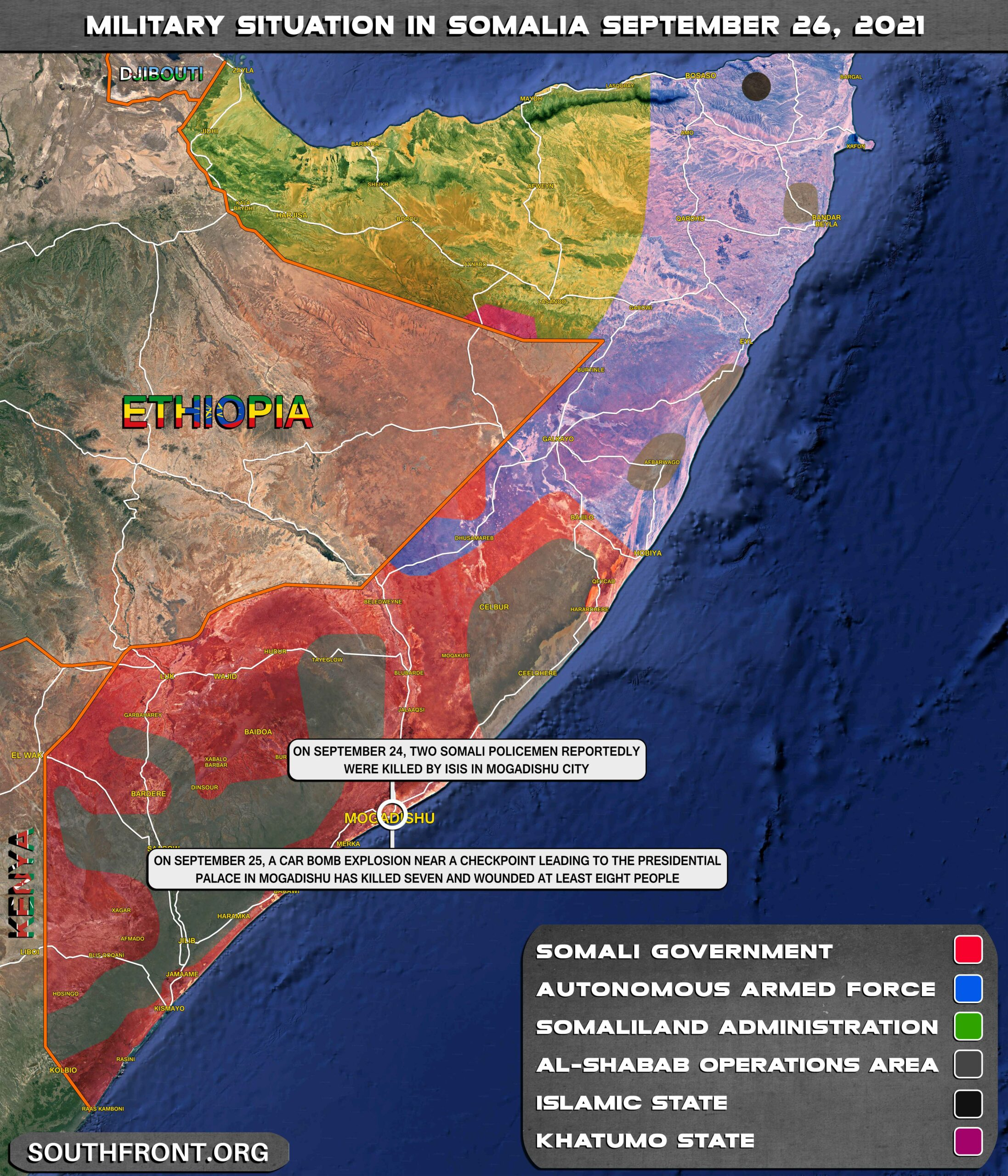 Military Situation In Somalia On September 26, 2021 (Map Update)